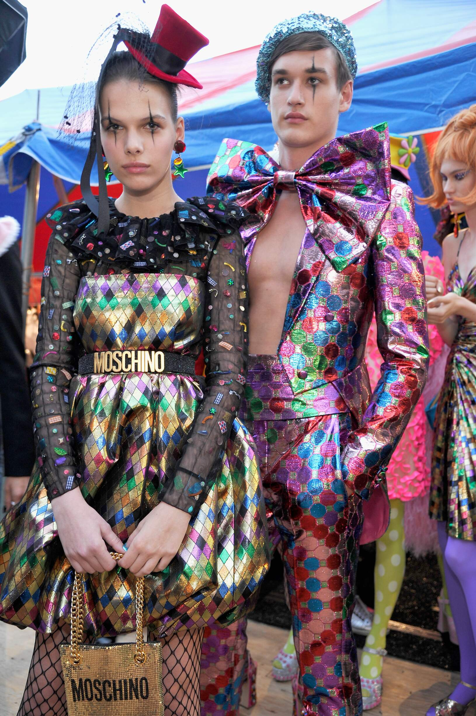 Models Backstage Moschino Los Angeles