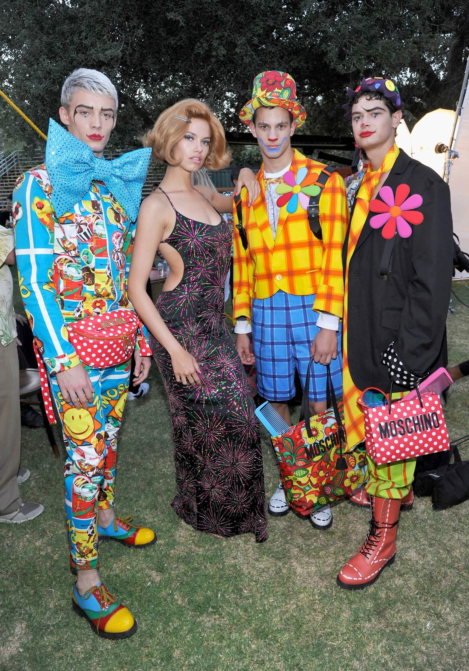 Moschino Backstage Fashion Models