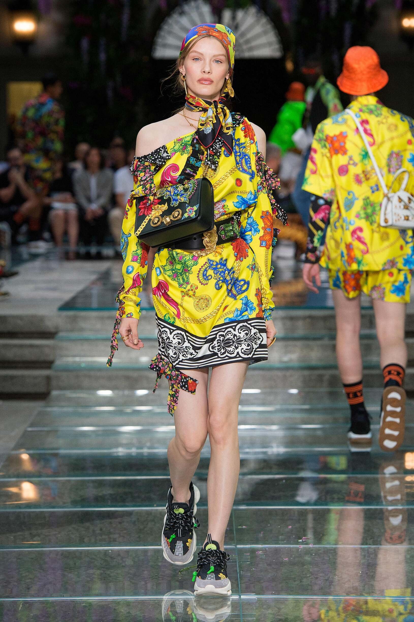 Woman SS 2019 Versace Fashion Show Milan