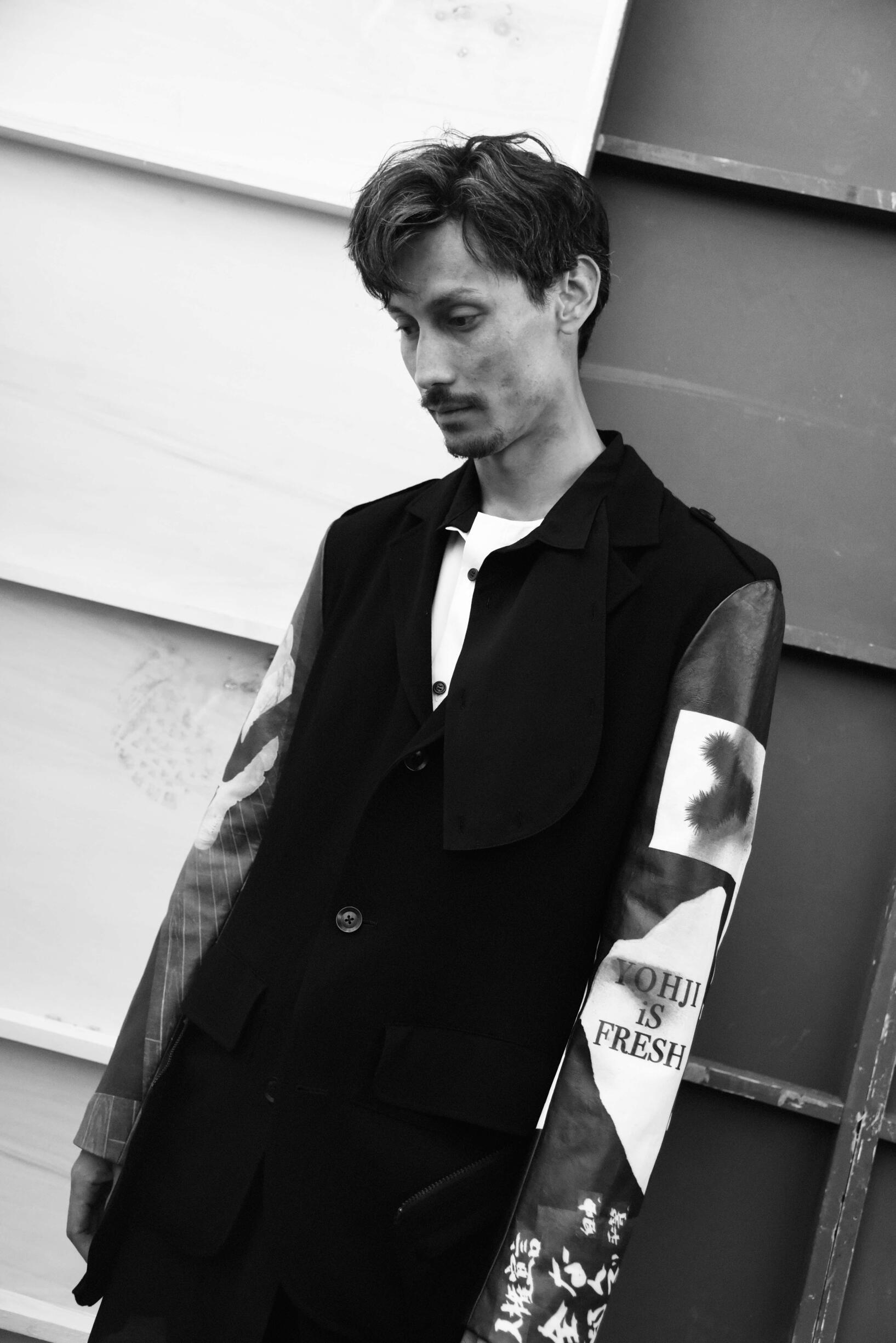 Backstage Yohji Yamamoto Model 2019