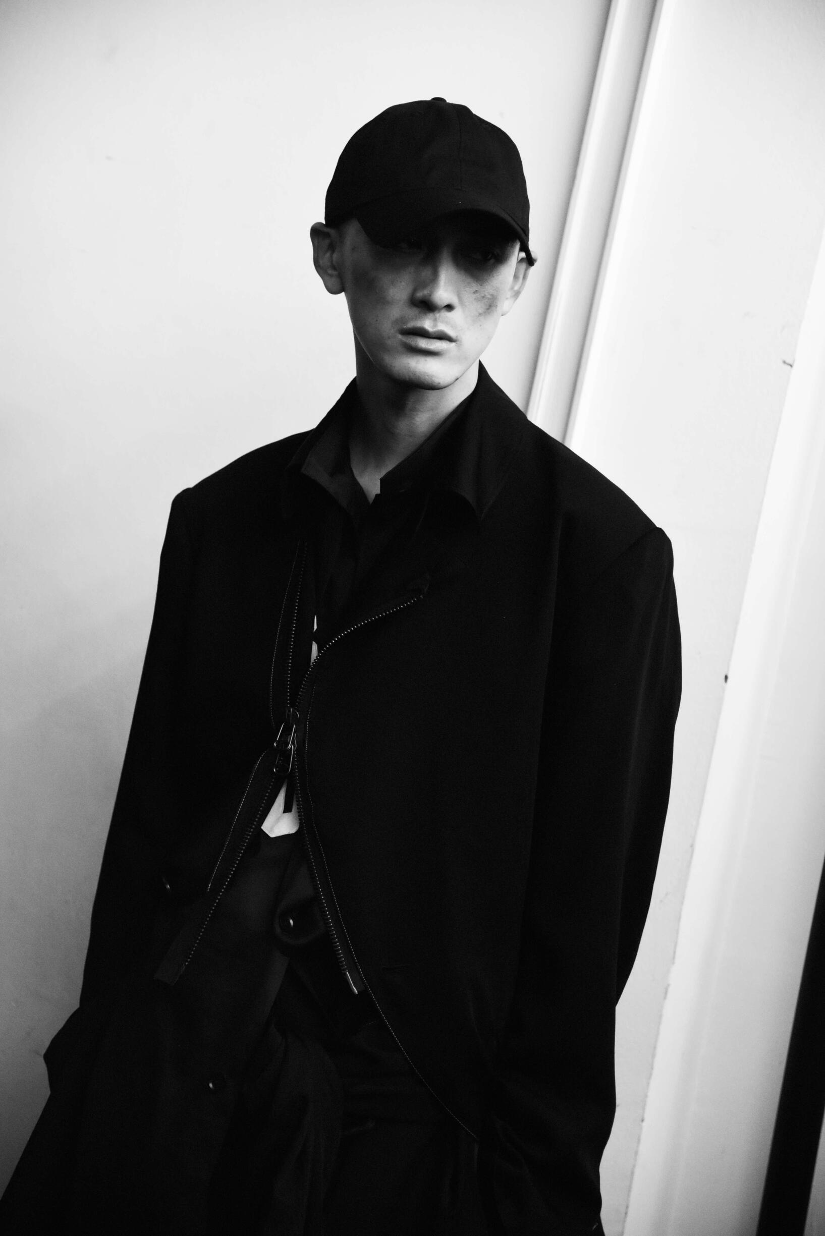 Backstage Yohji Yamamoto Model Menswear