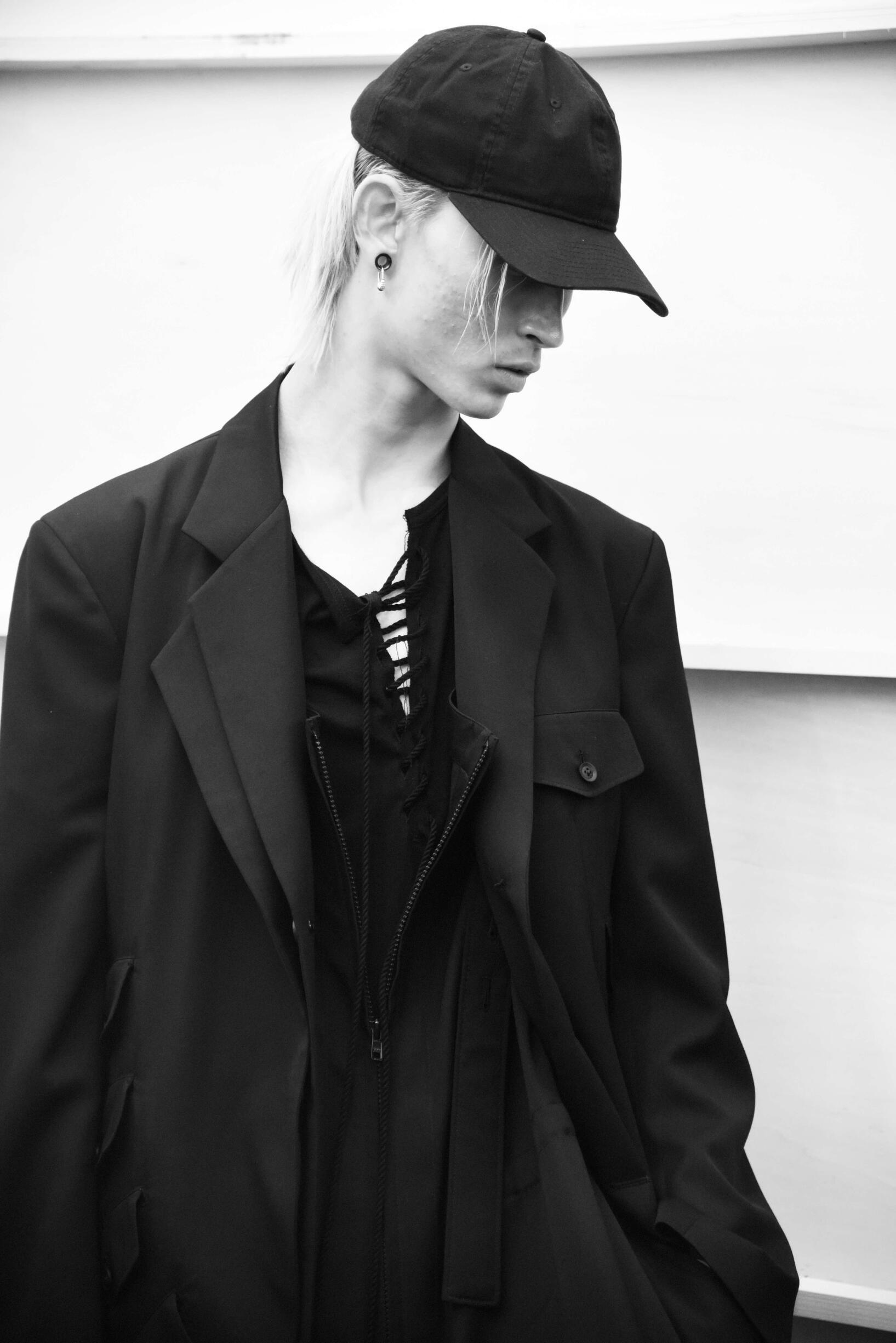 Backstage Yohji Yamamoto Model Spring Summer 2019