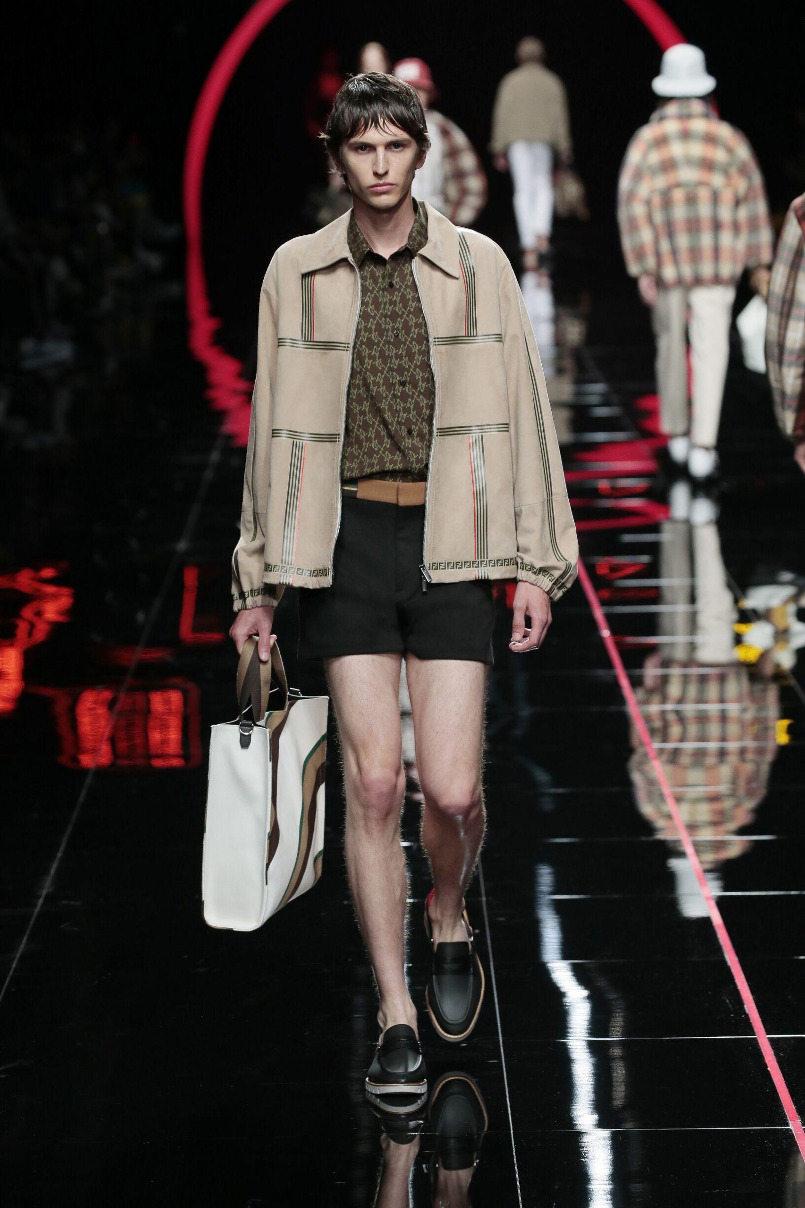 Catwalk Fendi Man Fashion Show Summer 2019