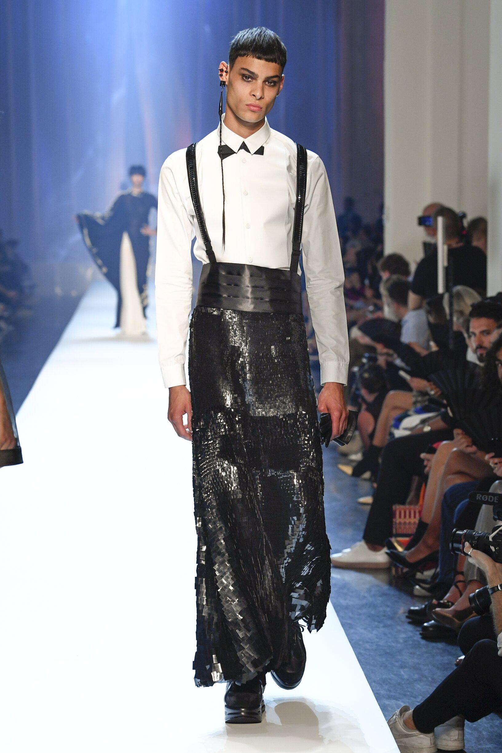 Fashion 2018 Catwalk Jean-Paul Gaultier Haute Couture Winter Mens Collection