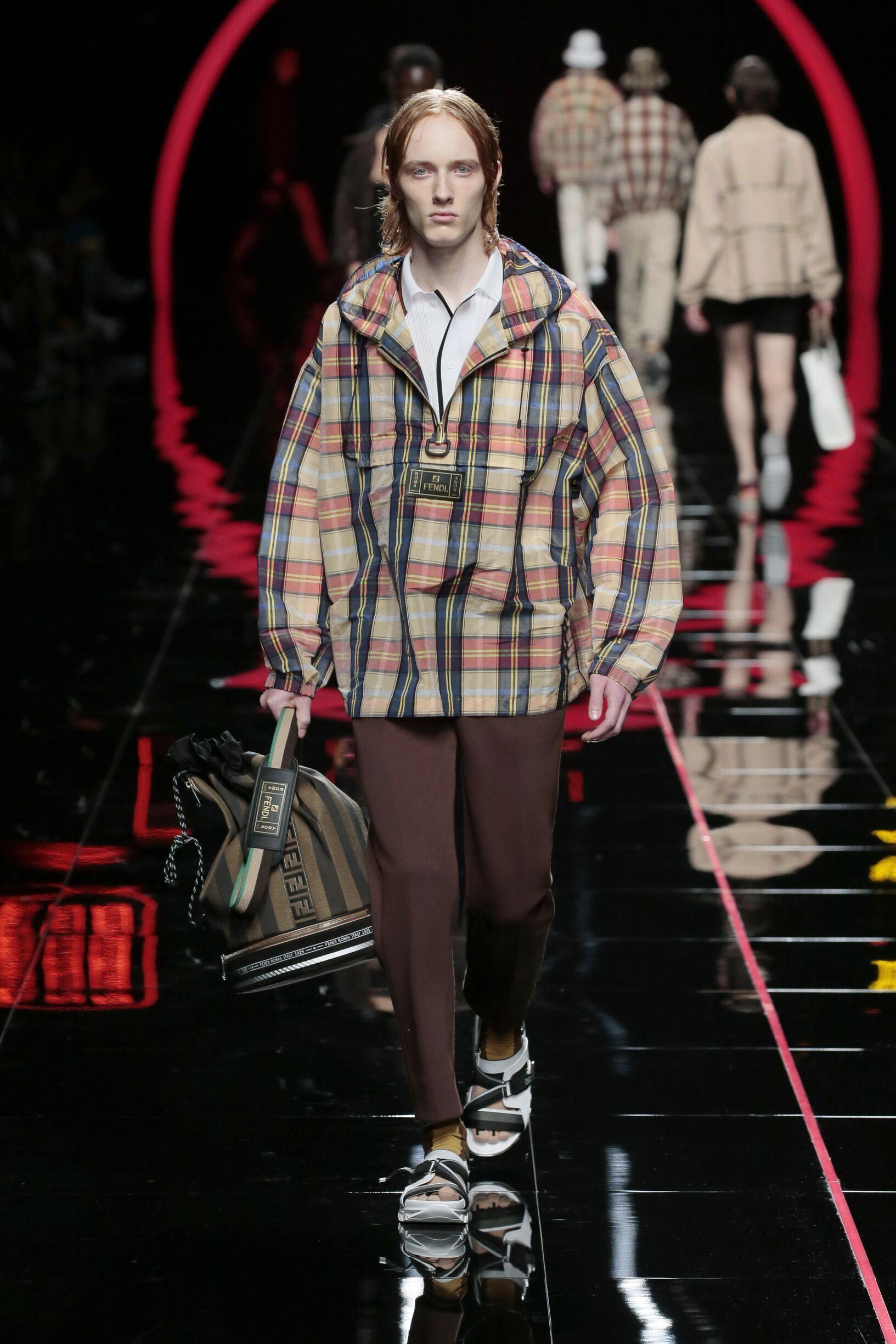 Fashion 2019 Catwalk Fendi Summer Man Collection