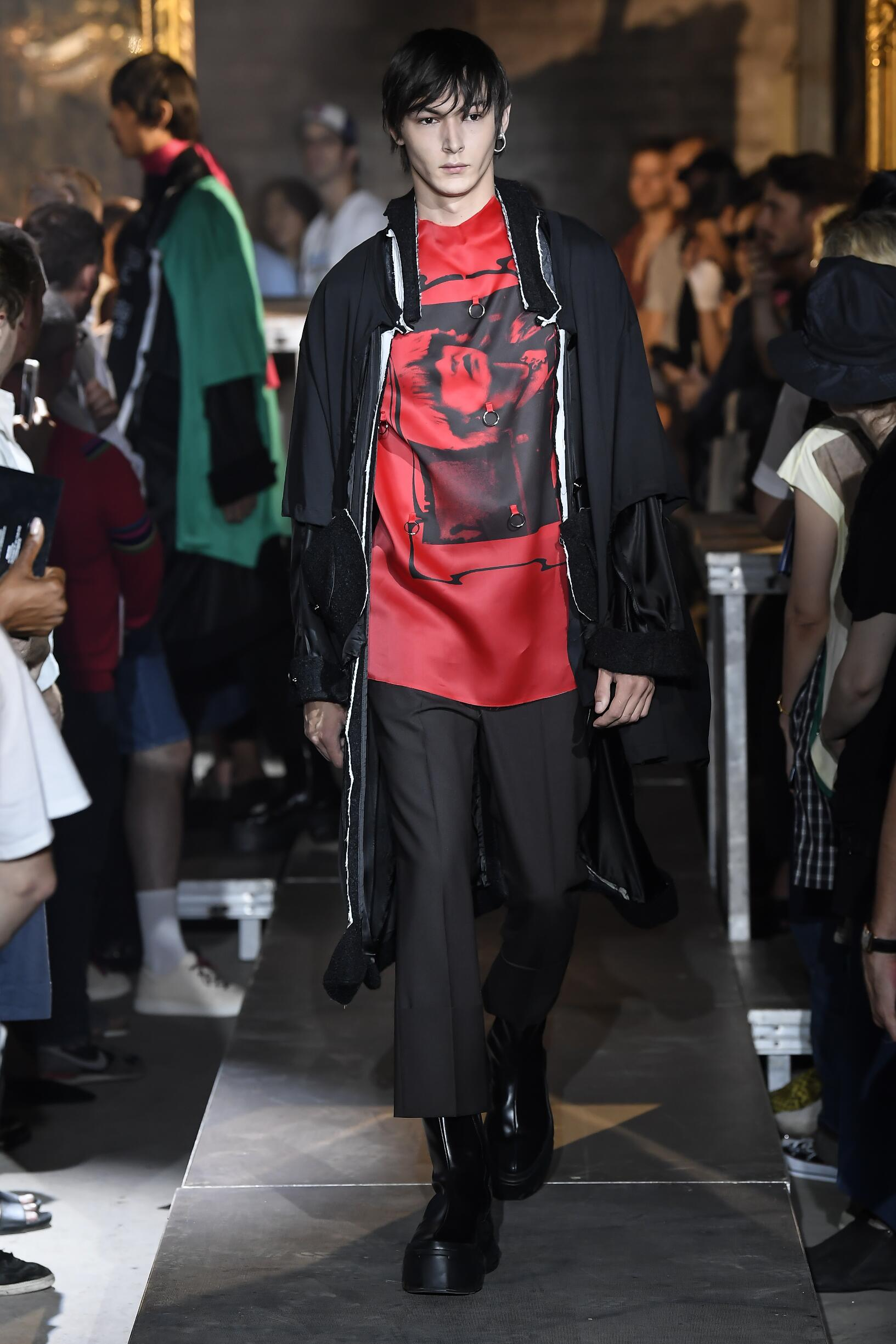 Fashion 2019 Runway Man Raf Simons Summer