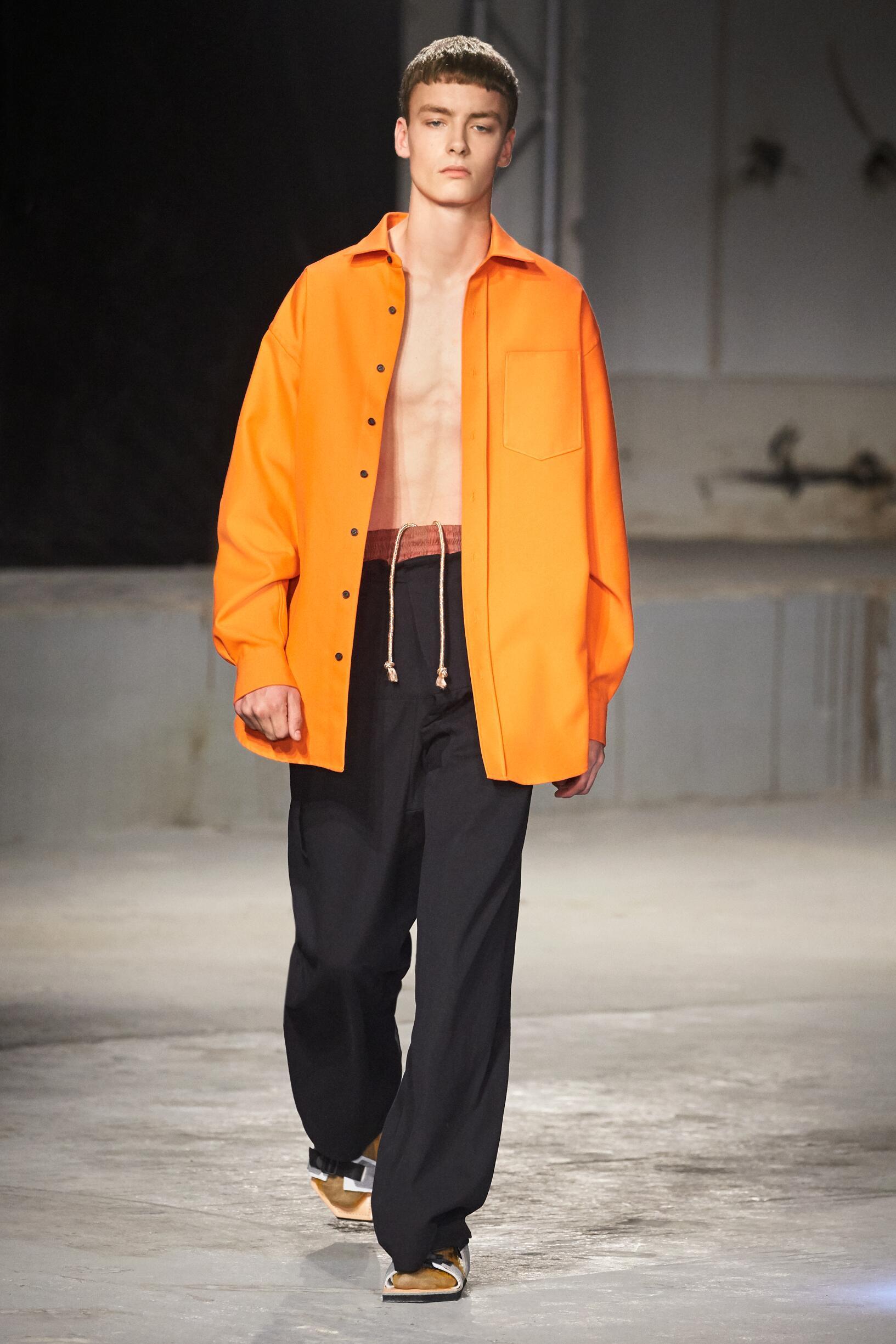 Fashion Man Model Acne Studios Catwalk