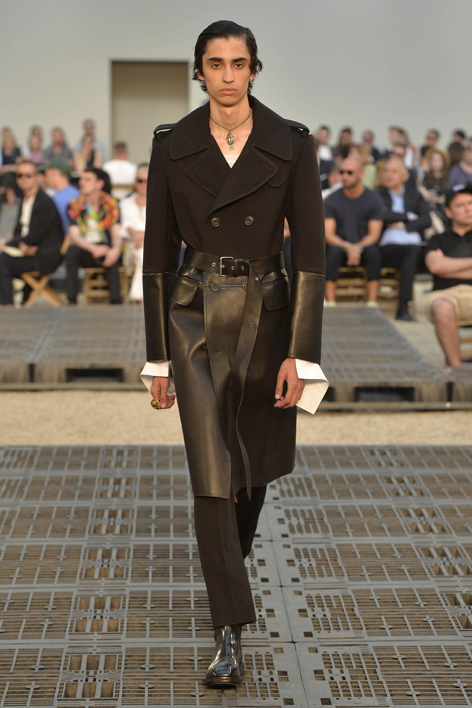 Fashion Man Model Alexander McQueen Catwalk