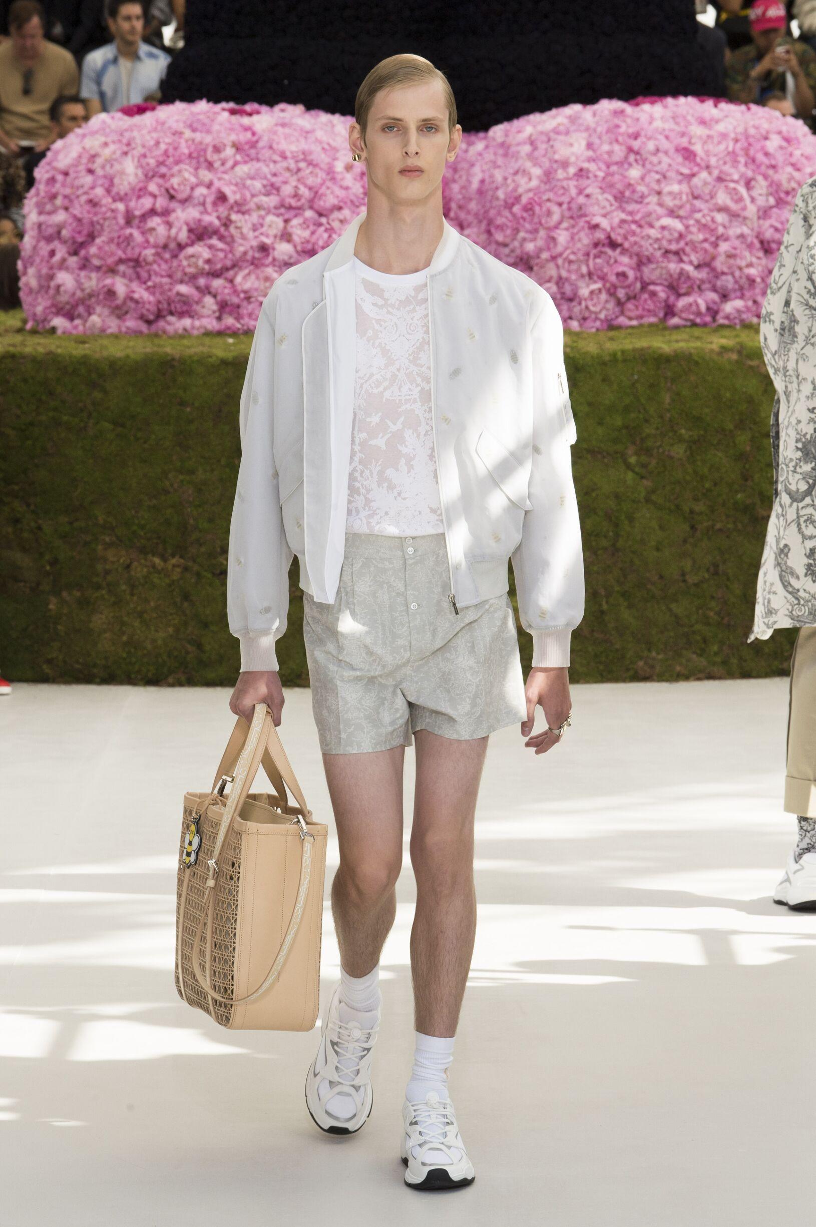 Fashion Man Model Dior Catwalk