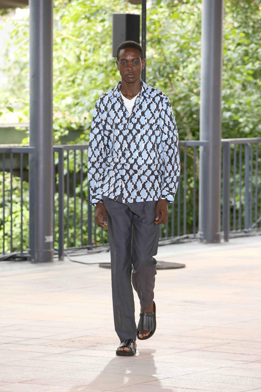 Fashion Man Model Issey Miyake Catwalk