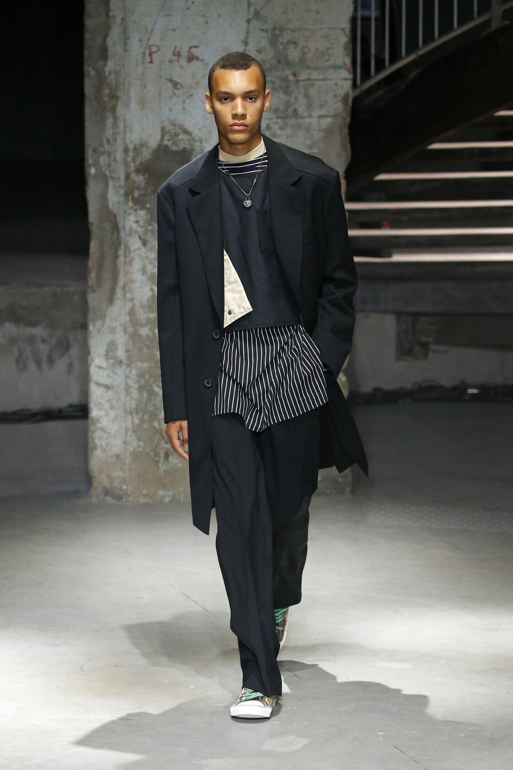 Fashion Man Model Lanvin Catwalk