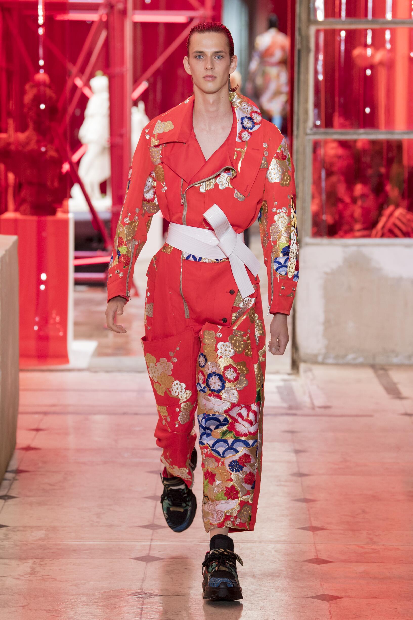Fashion Man Model Maison Margiela Catwalk