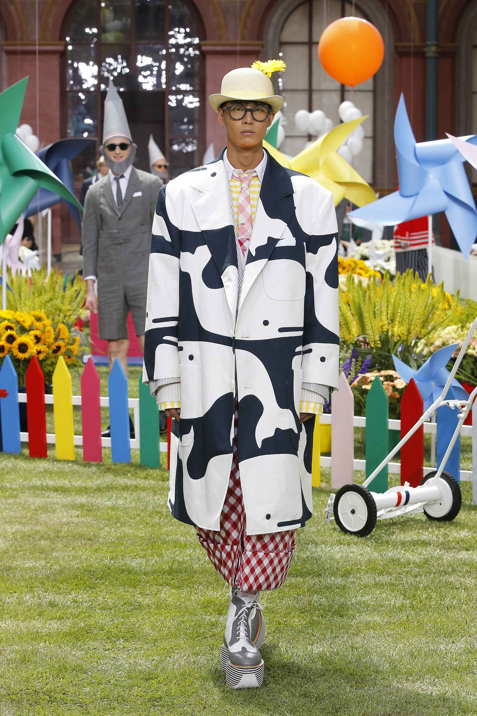 Fashion Man Model Thom Browne Catwalk