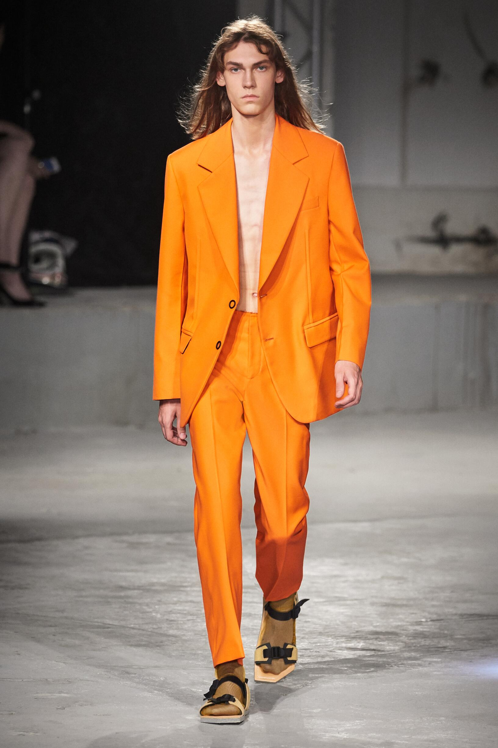 Fashion Model Acne Studios Catwalk