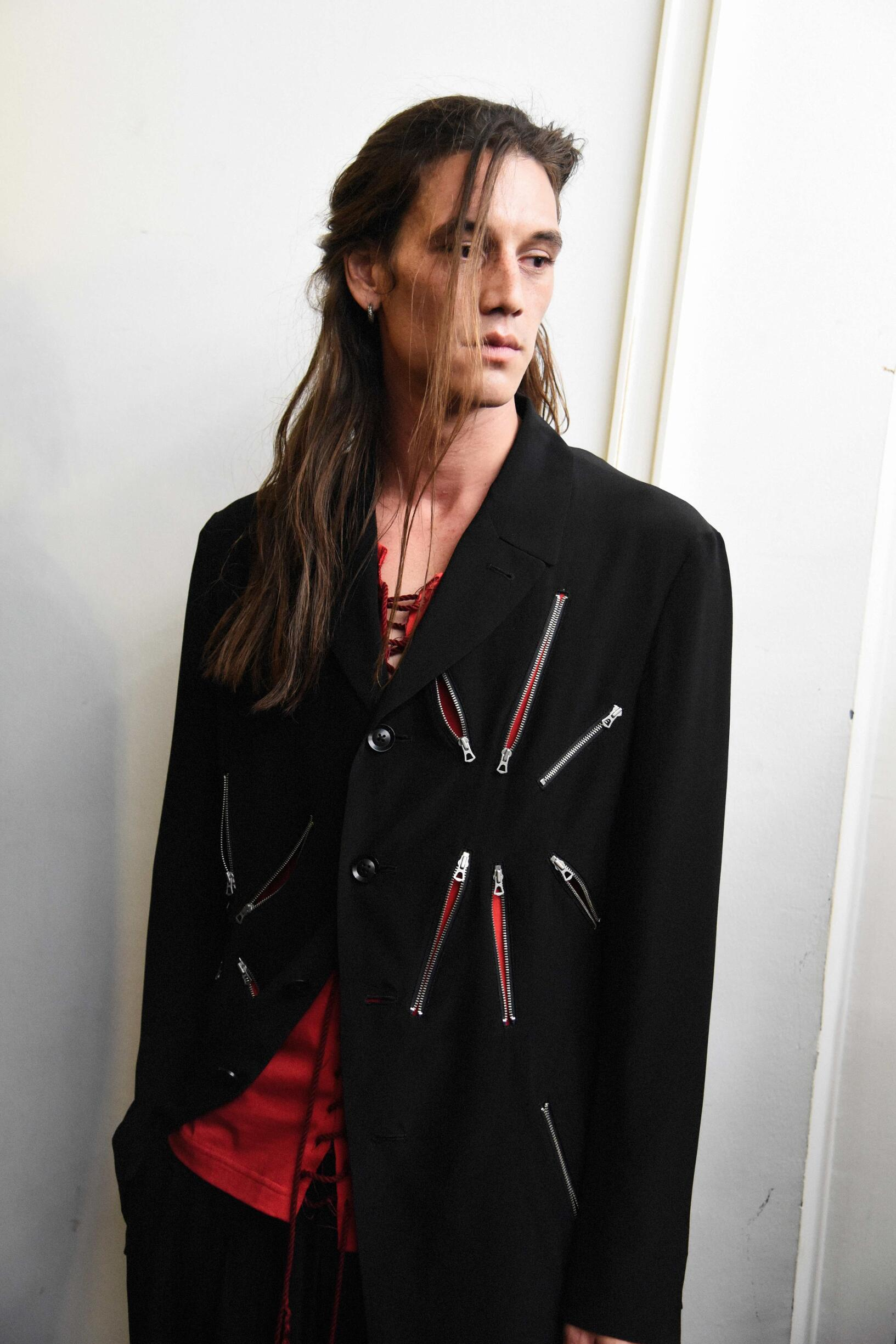 Fashion Model Backstage Yohji Yamamoto Spring Summer 2019 Collection