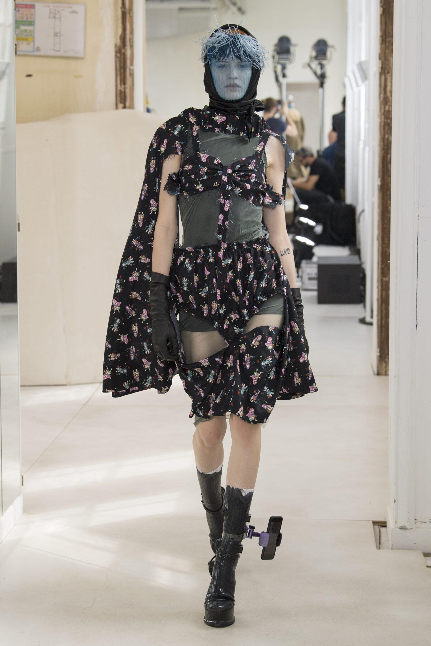 Fashion Model Maison Margiela Artisanal Catwalk