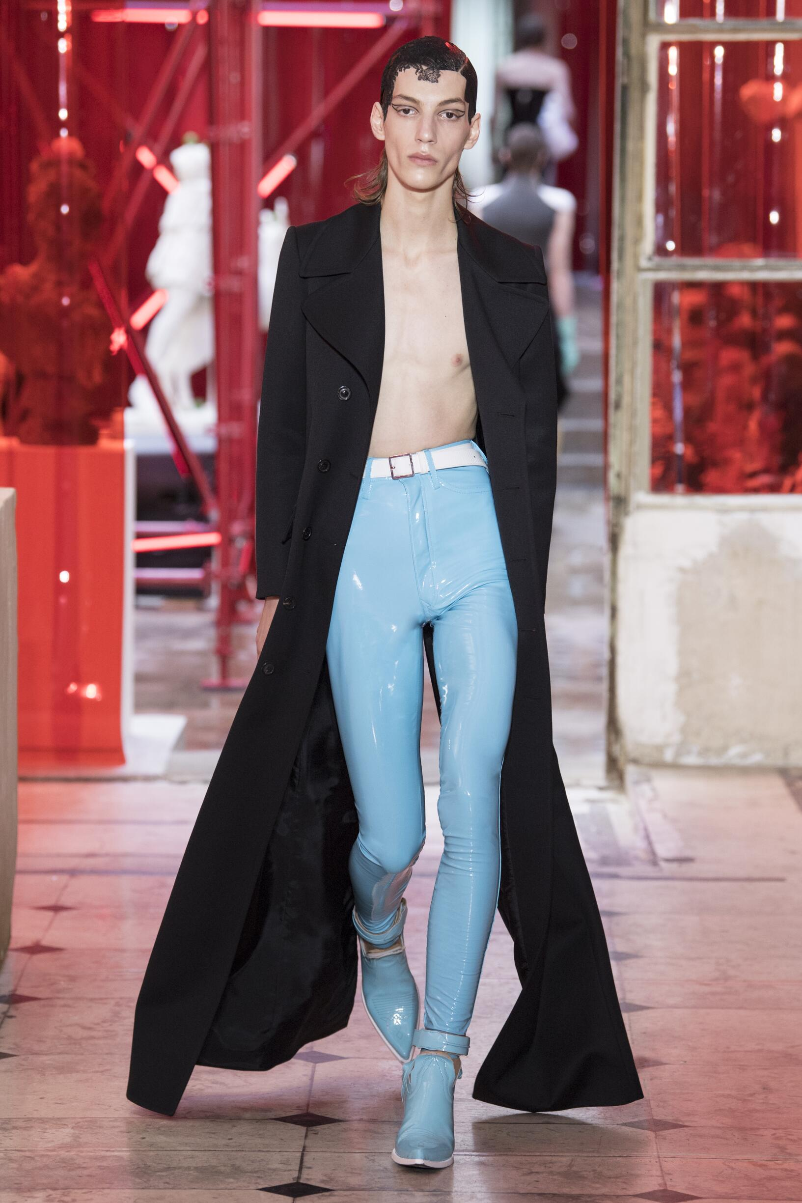 Fashion Model Maison Margiela Catwalk