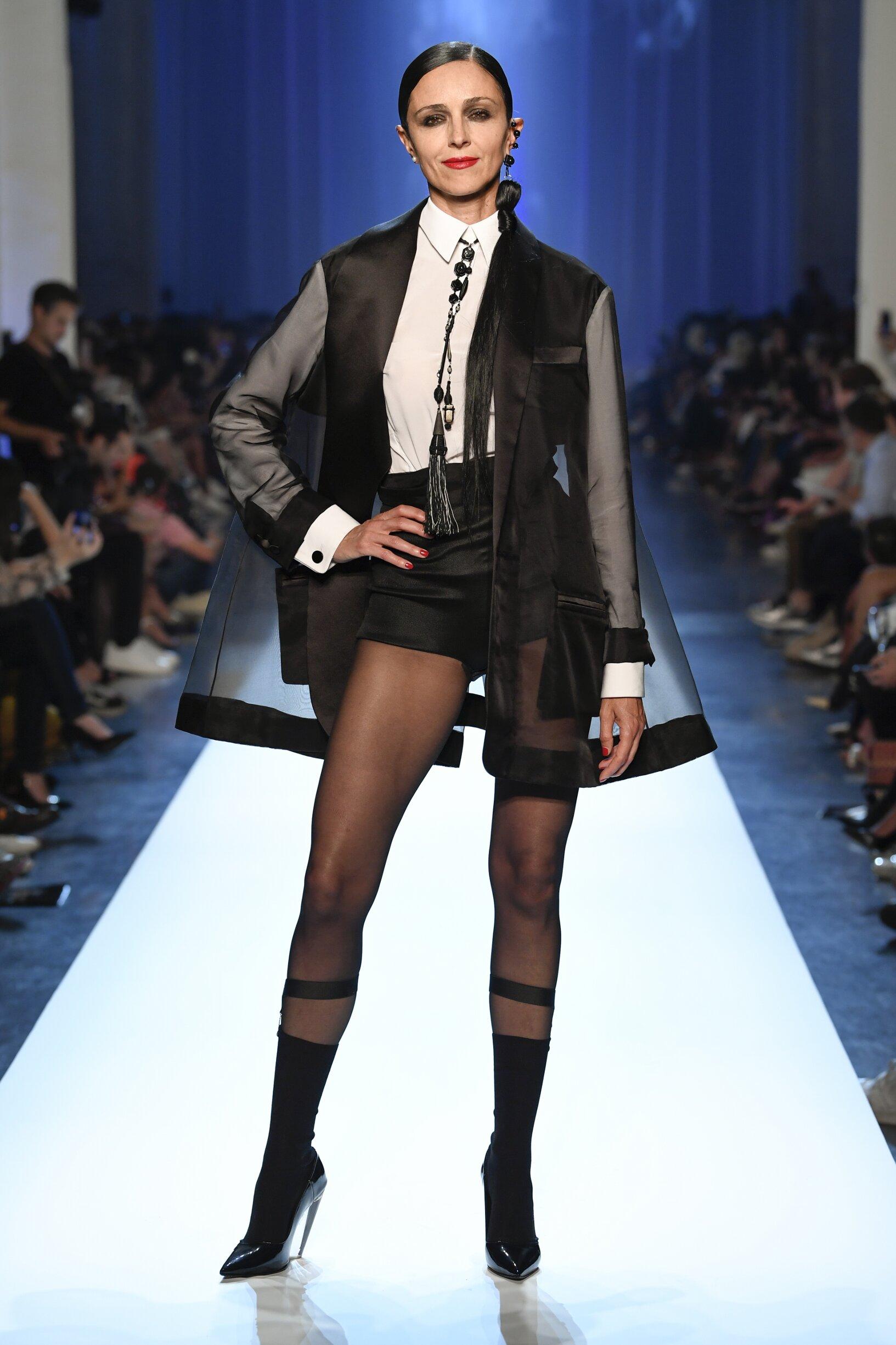 Fashion Show Woman Model Jean-Paul Gaultier Haute Couture Catwalk