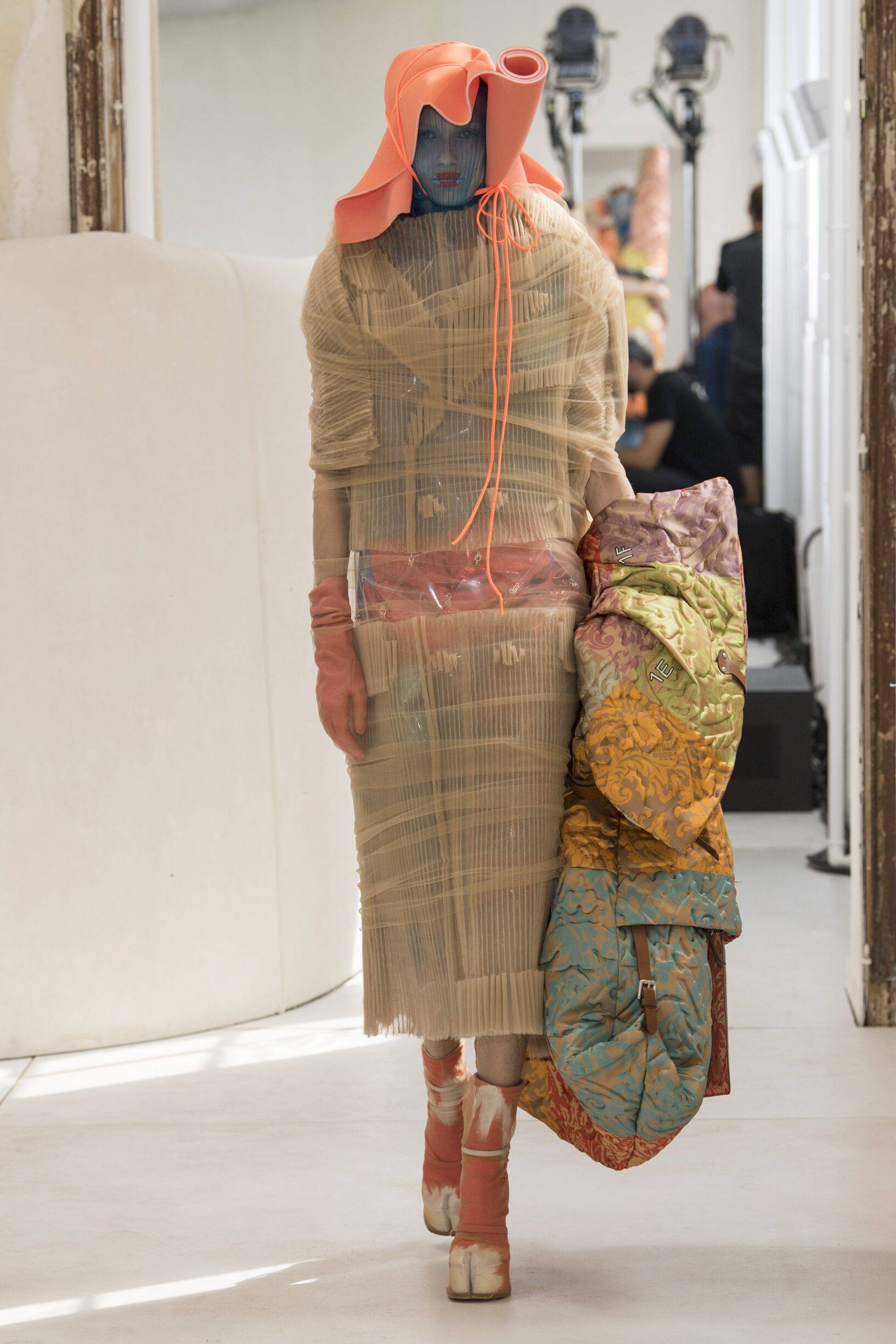 Fashion Show Woman Model Maison Margiela Artisanal Catwalk