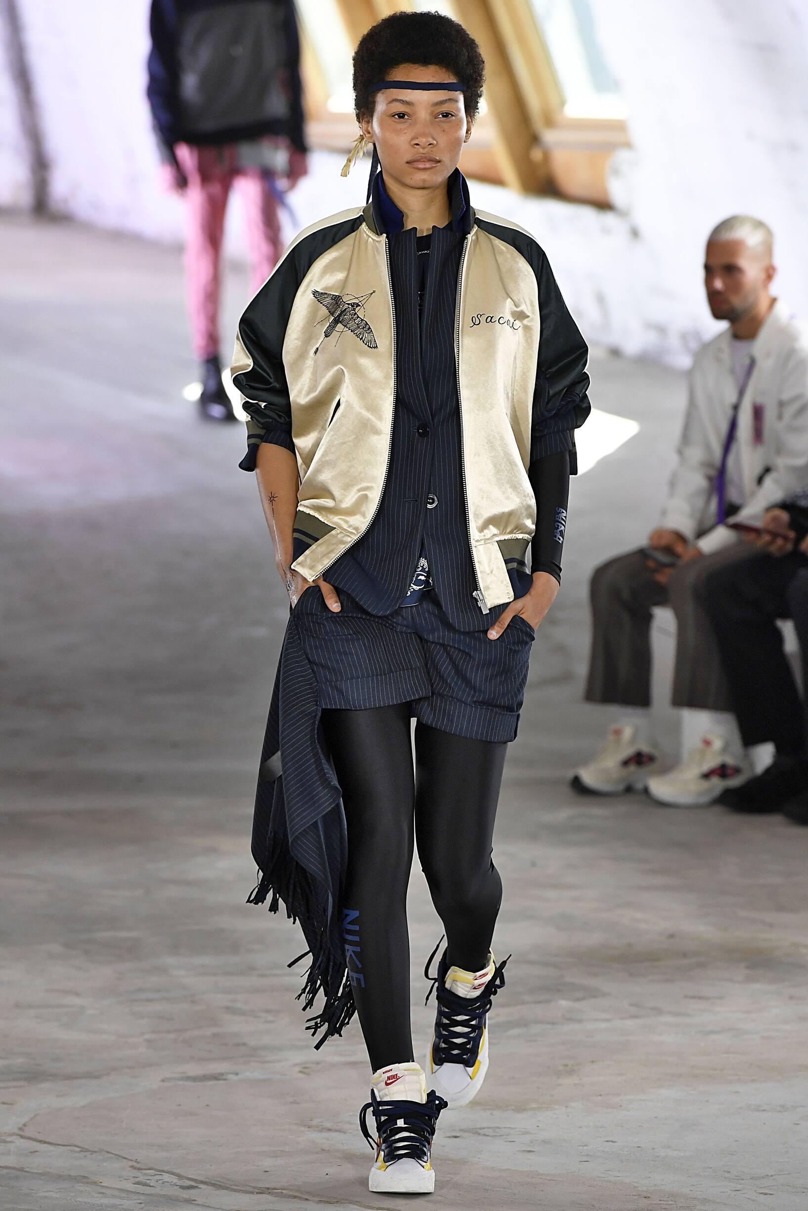 Fashion Woman Model Sacai Runway