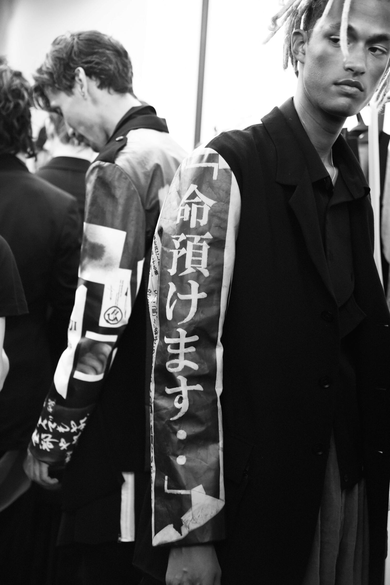 Models 2019 Backstage Yohji Yamamoto