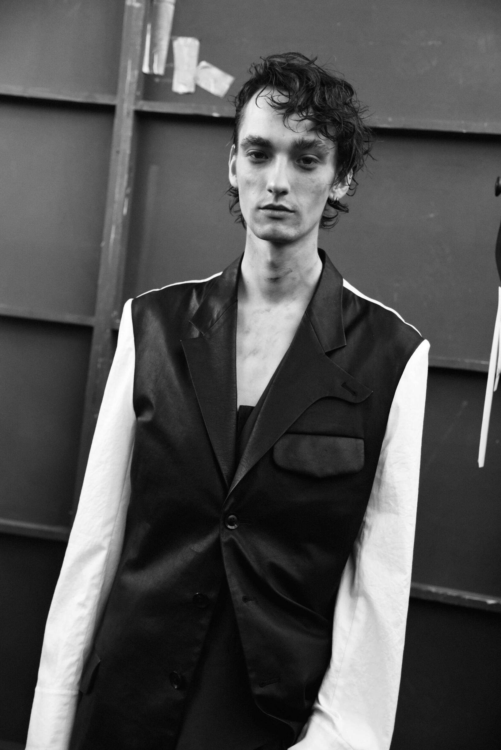Portrait Model Backstage Yohji Yamamoto