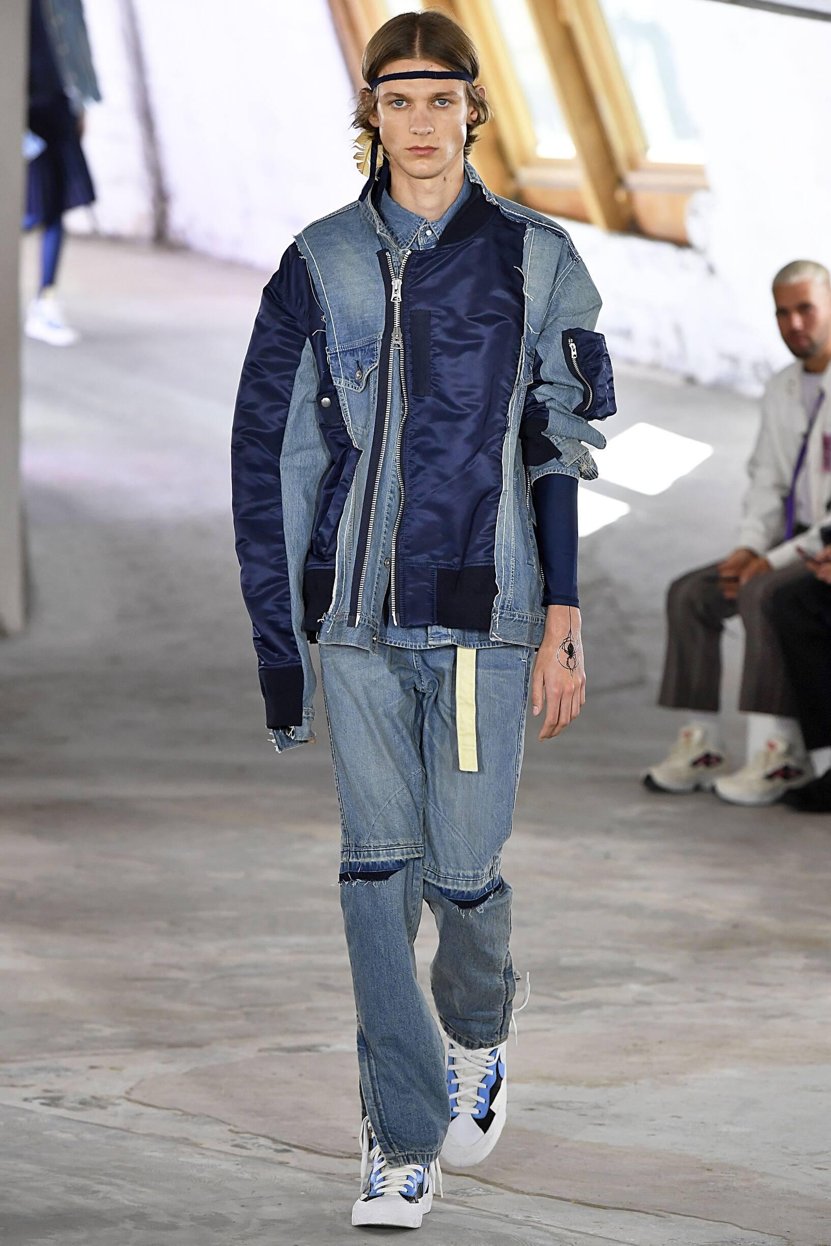 Runway Sacai Spring Summer 2019 Men's Collection Paris Fashion Week