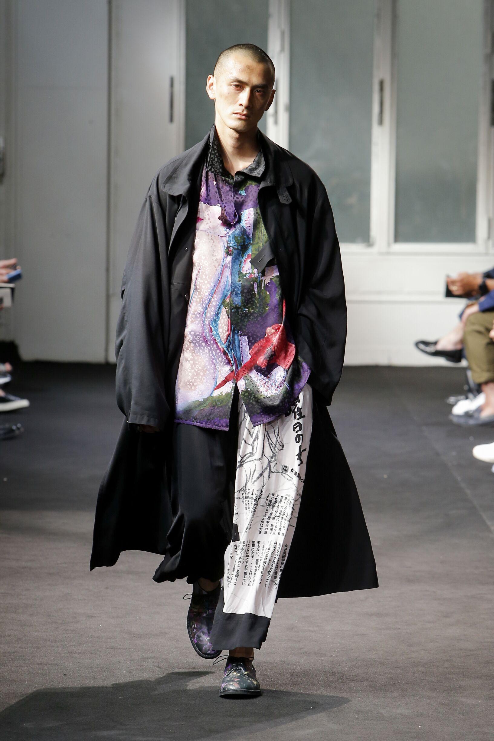 SS 2019 Yohji Yamamoto Fashion Show Paris
