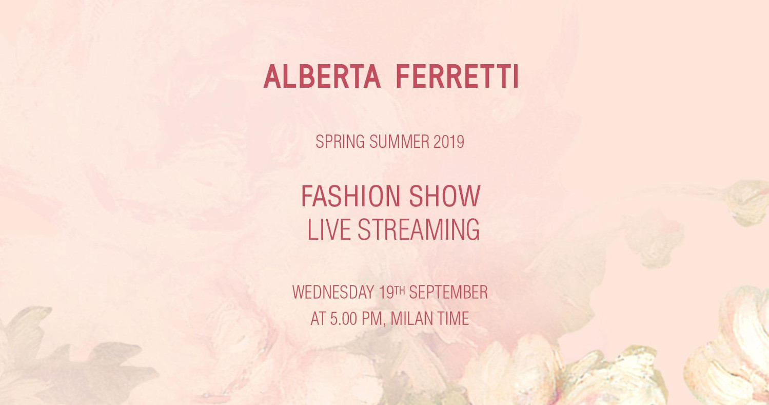Alberta Ferretti Spring Summer 2019 Fashion Show Live Streaming Milan