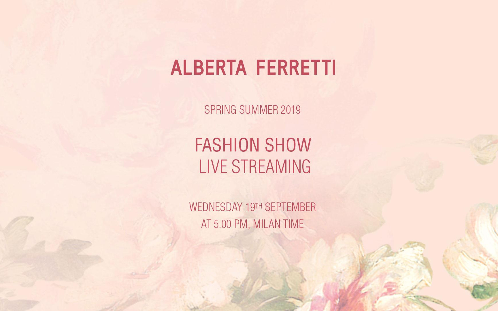 Alberta Ferretti Spring Summer 2019 Fashion Show Live Streaming