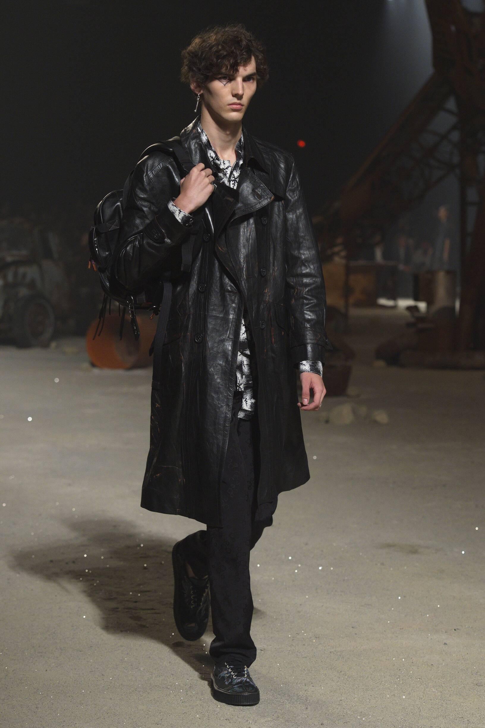 Fashion Man Model Coach Catwalk
