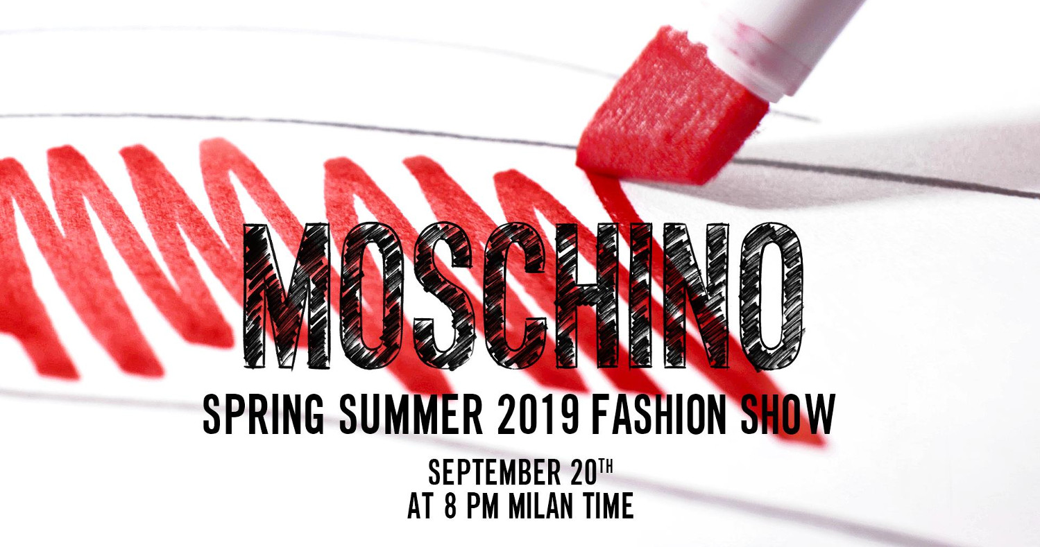 Moschino Spring Summer 2019 Fashion Show Live Streaming Milan