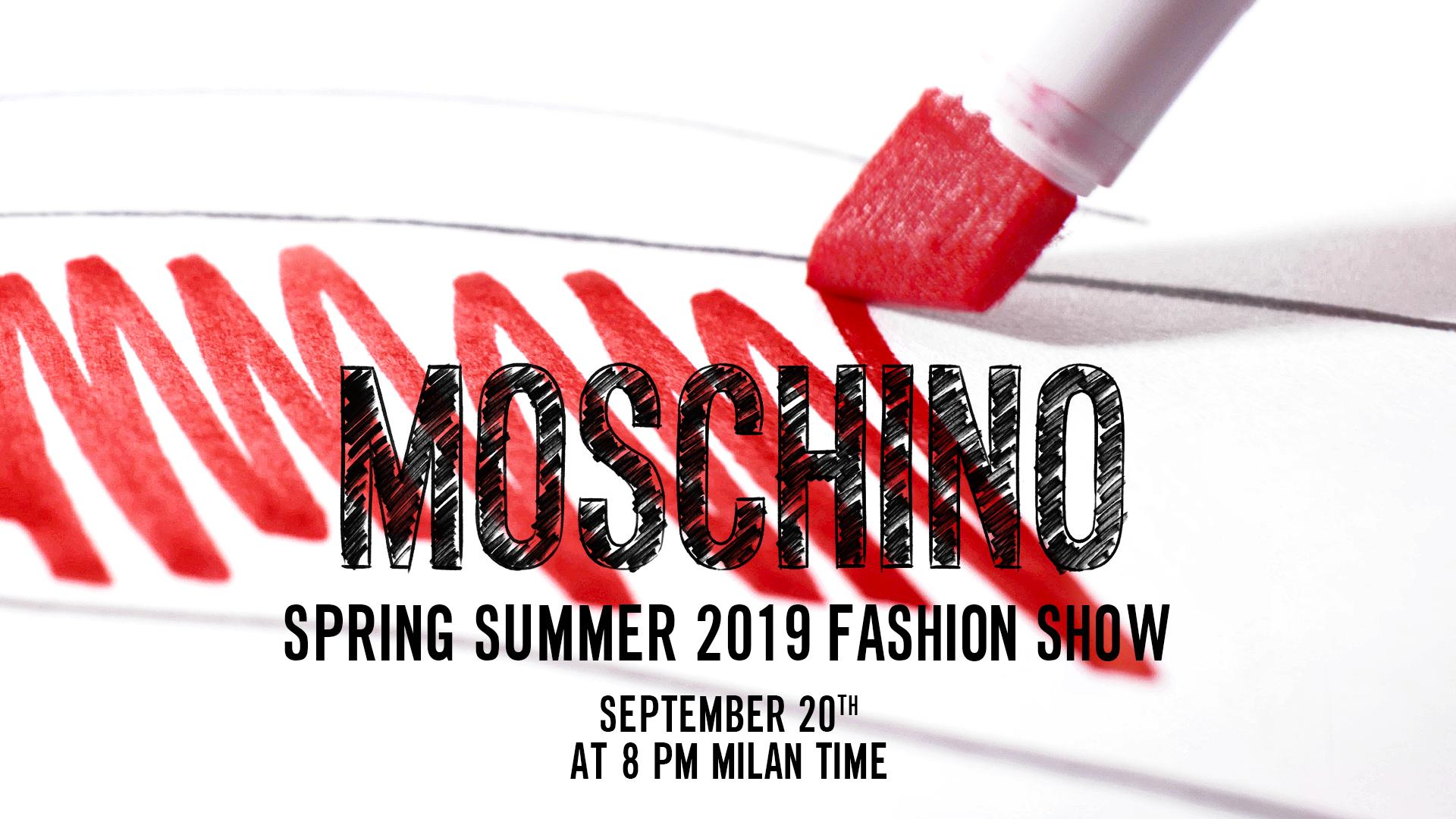 Moschino Spring Summer 2019 Fashion Show Live Streaming