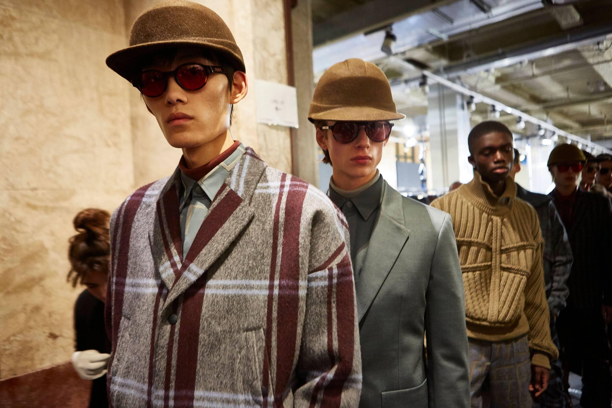Backstage Ermenegildo Zegna Models Menswear 2019