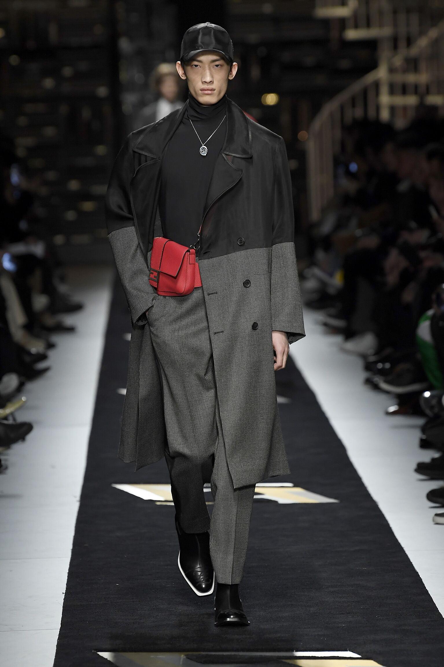 Catwalk Fendi Man Fashion Show Winter 2019
