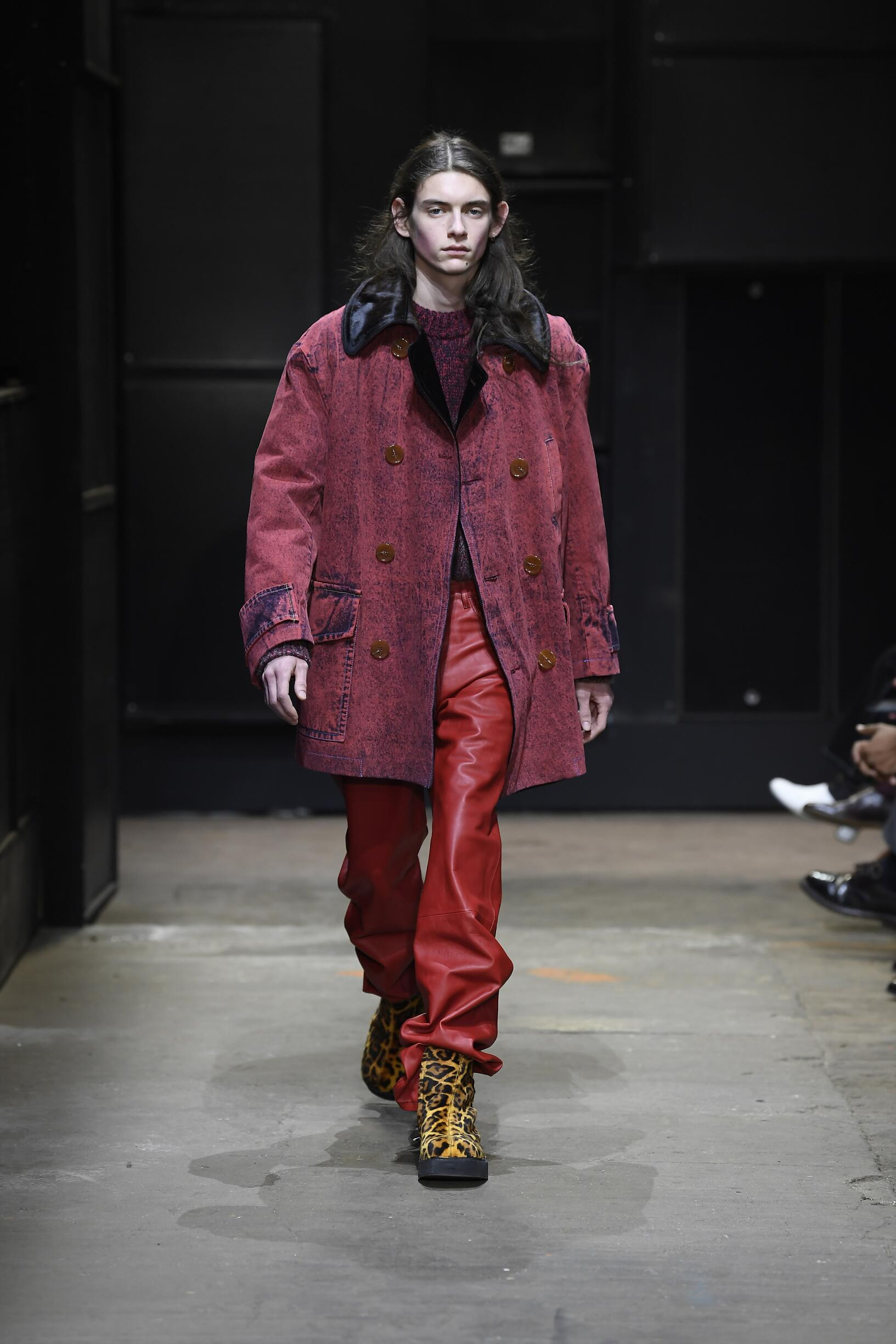 Catwalk Marni Man Fashion Show Winter 2019