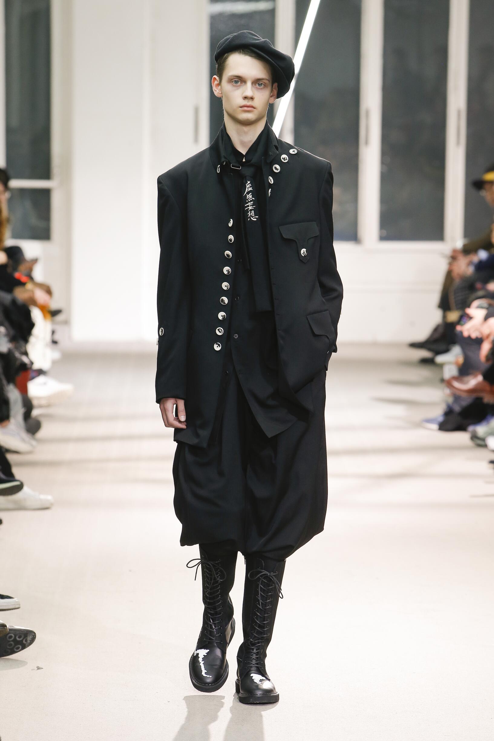 Catwalk Yohji Yamamoto Winter 2019