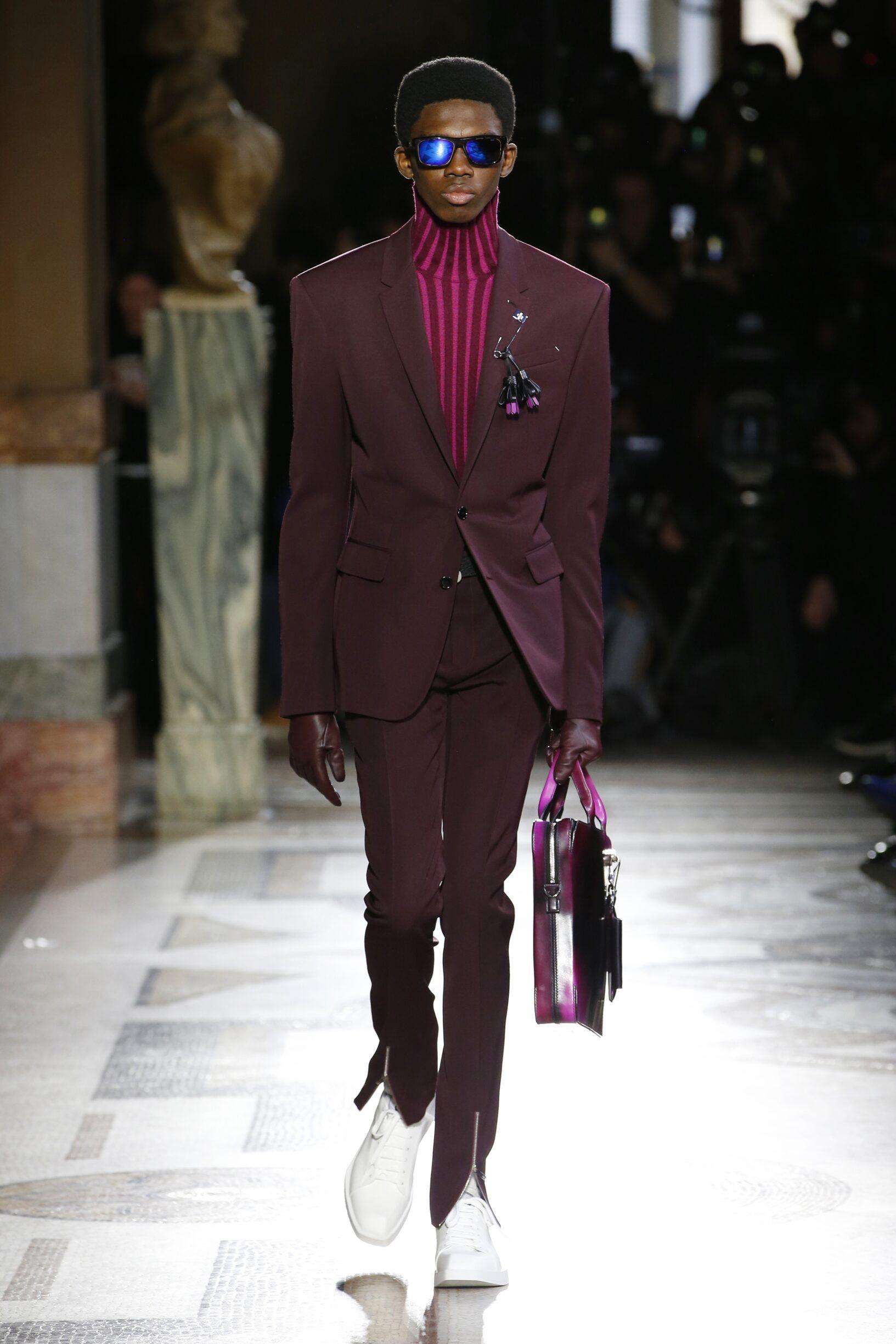 Fashion Model Berluti Catwalk