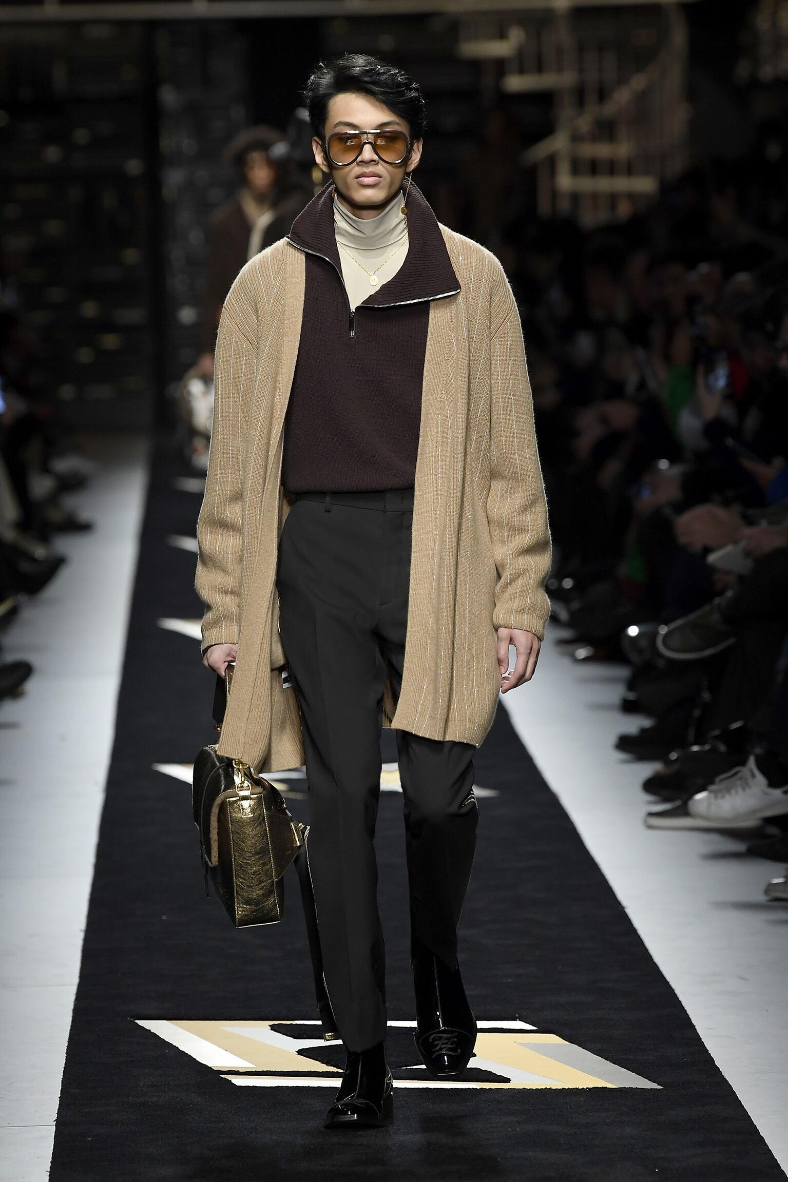 Fashion Show Man Model Fendi Catwalk