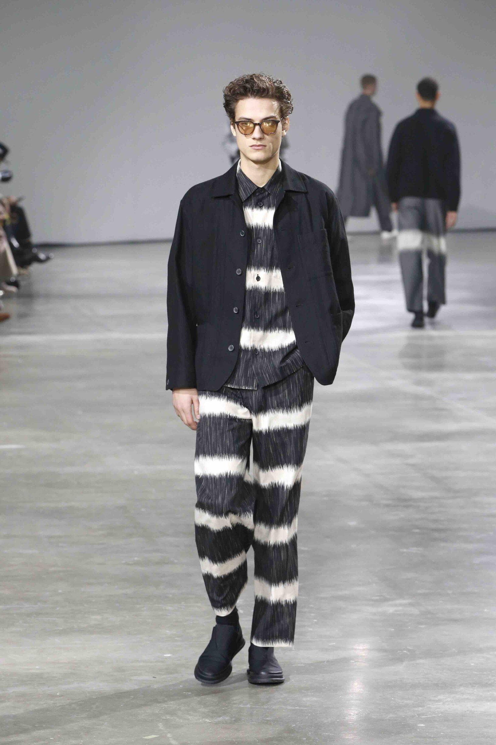 Fashion Show Man Model Issey Miyake Catwalk