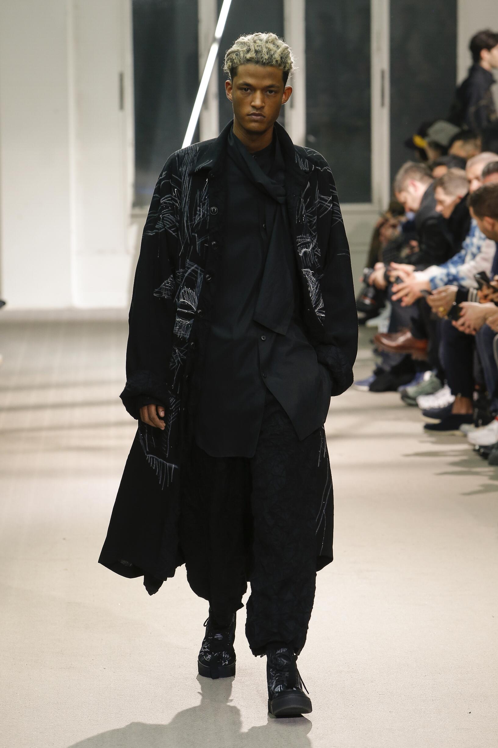 Fashion Show Man Model Yohji Yamamoto Catwalk
