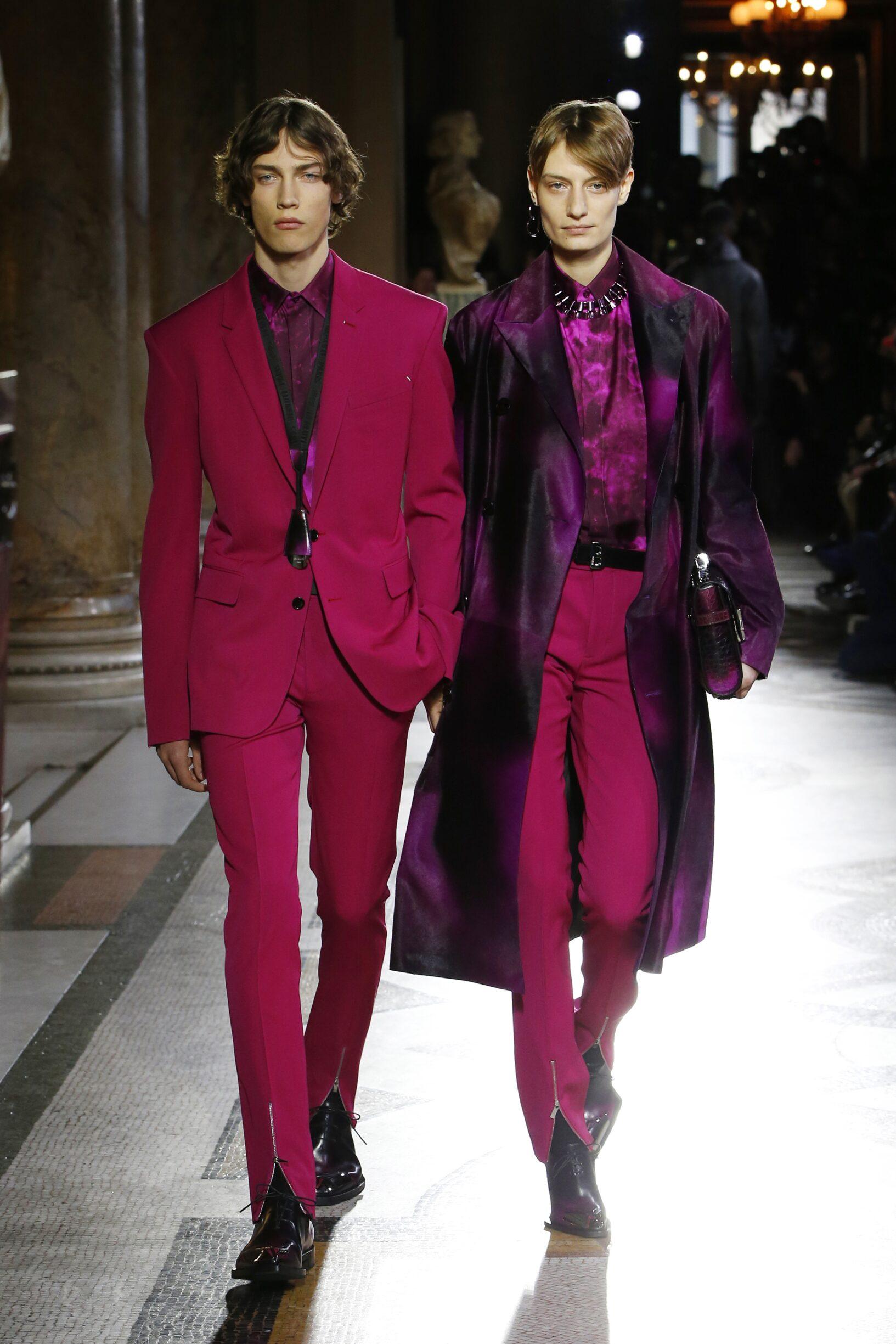 Fashion Show Models Berluti Catwalk