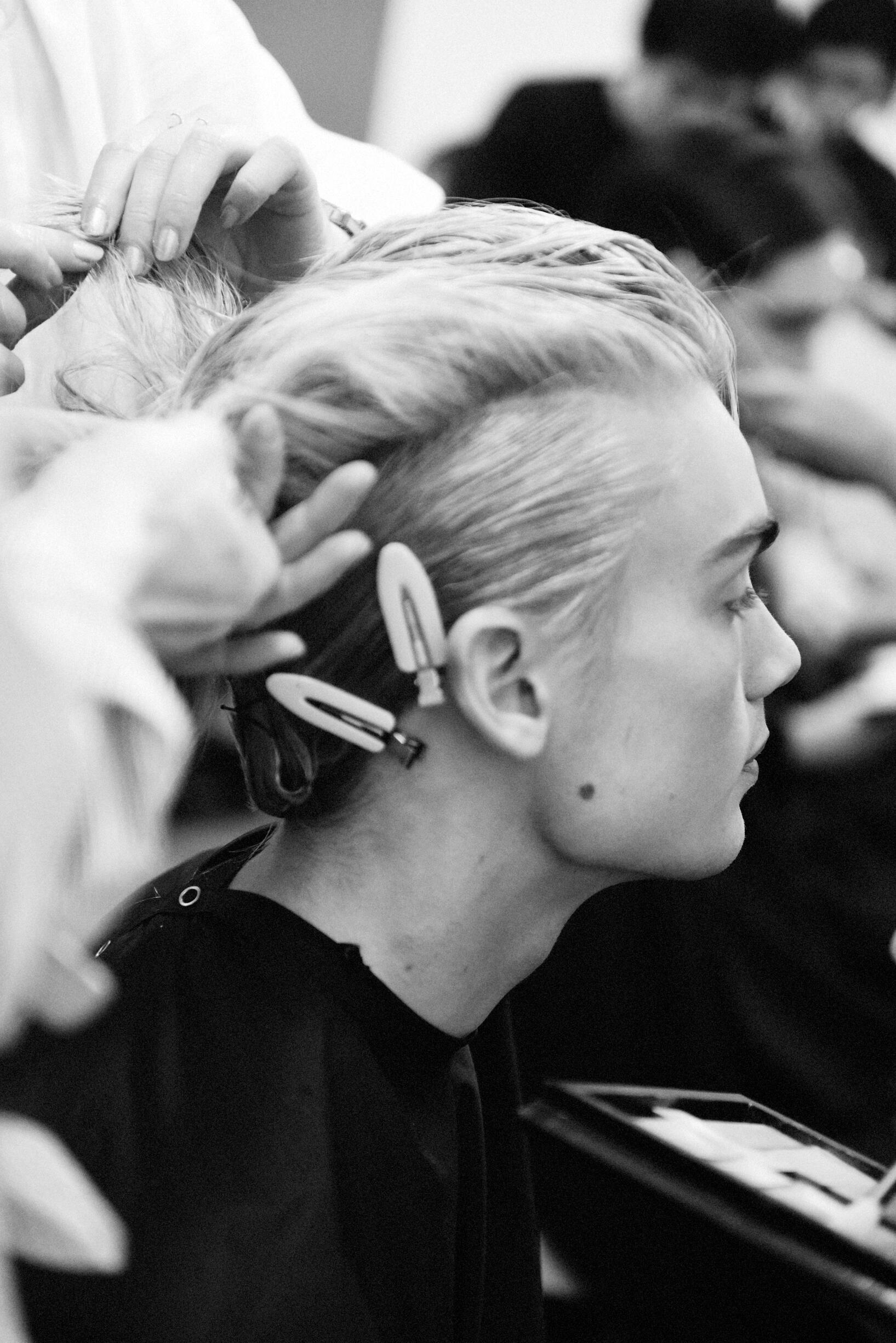 Hairstyle 2019 Backstage Yohji Yamamoto