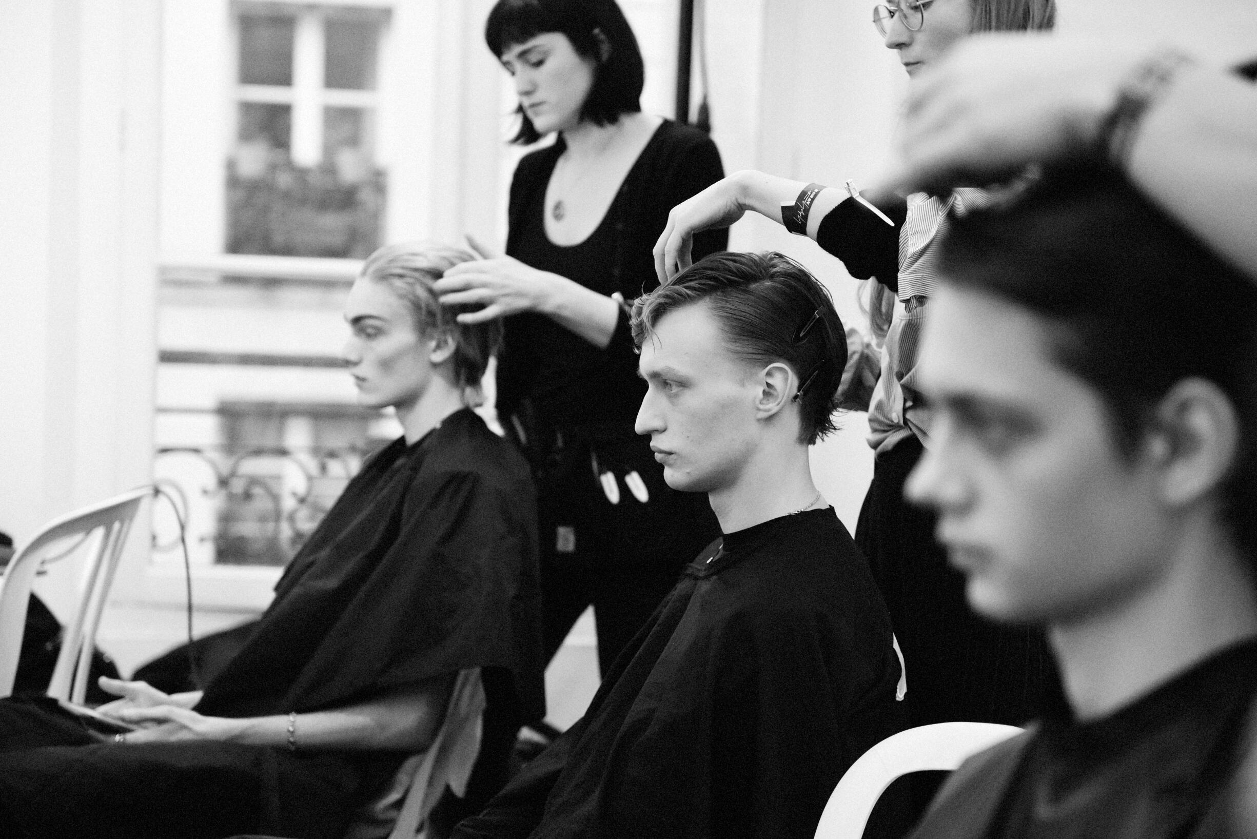 Hairstyle Men 2019 Fashion Backstage Yohji Yamamoto