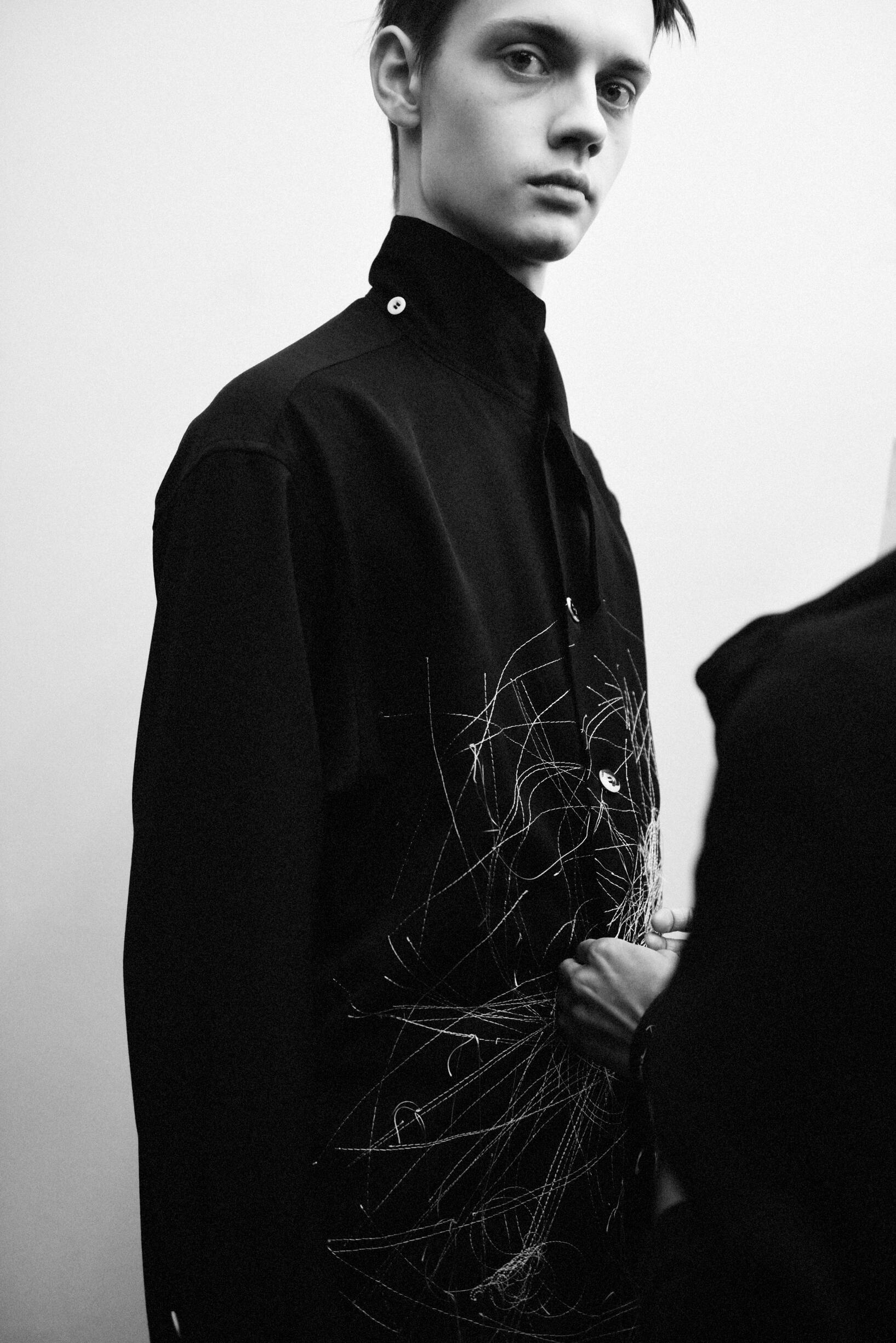 Man Model 2019 Backstage Yohji Yamamoto