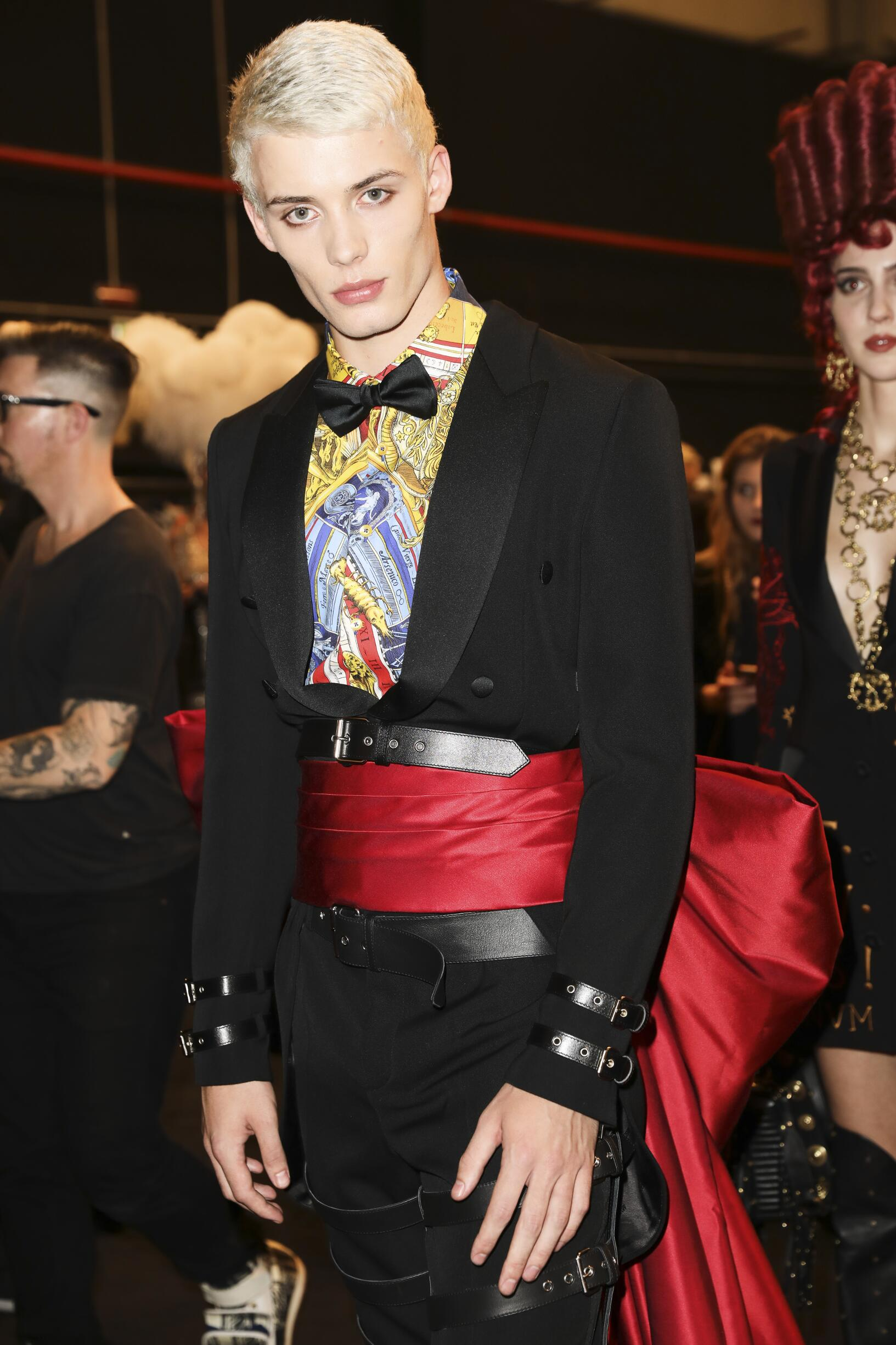 Man Model Moschino Backstage