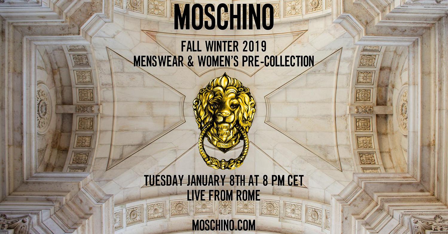 Moschino Fall Winter 2019 Fashion Show Live Streaming Rome