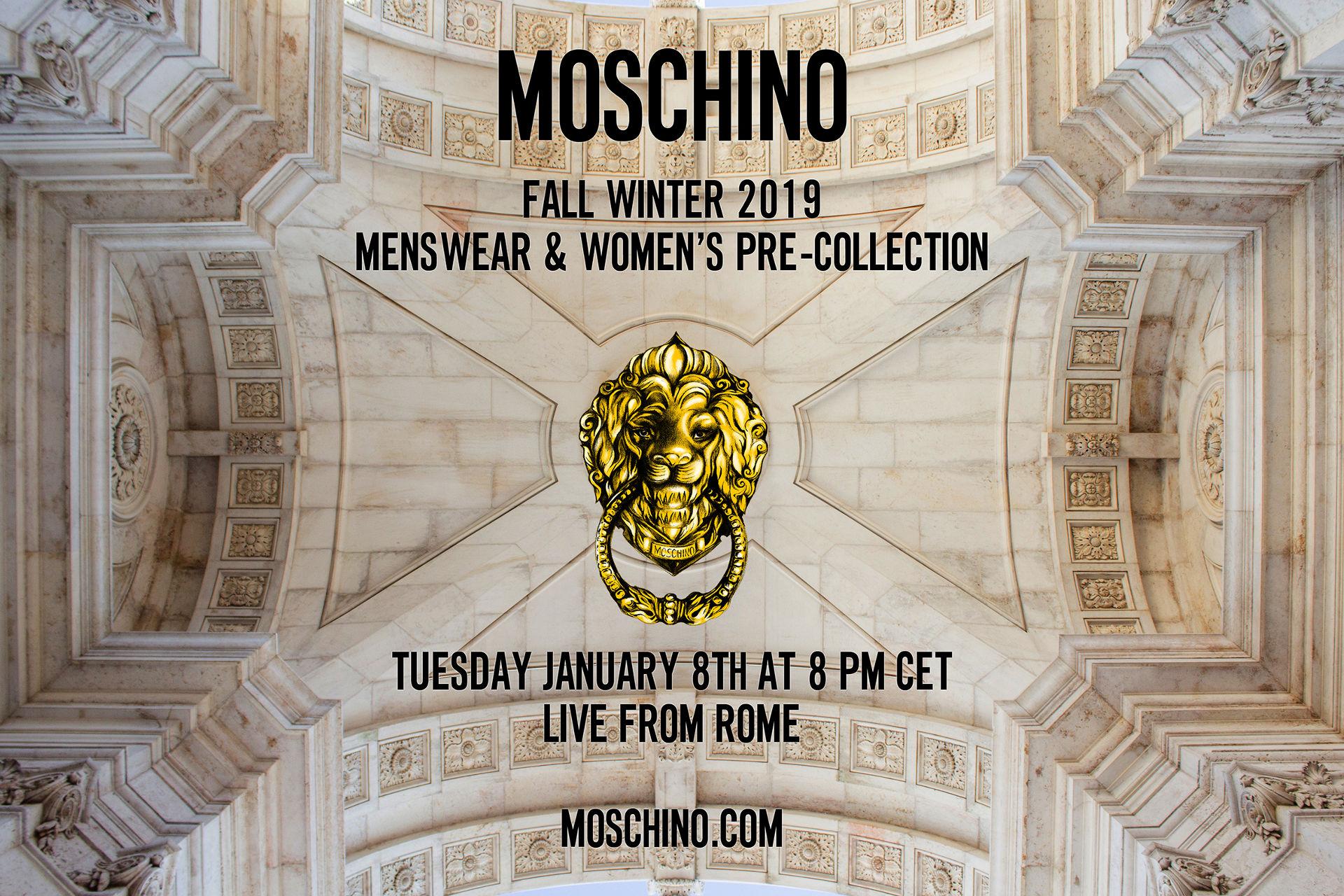 Moschino Fall Winter 2019 Fashion Show Live Streaming