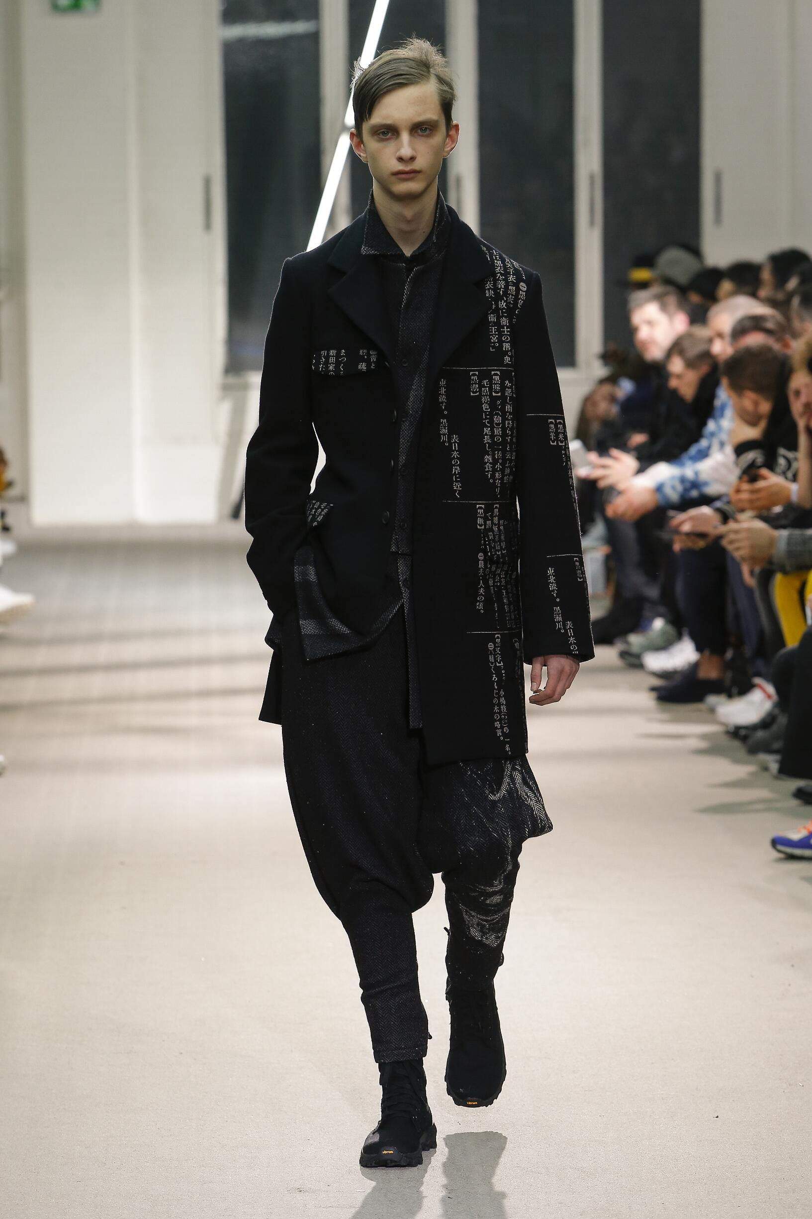 Runway Yohji Yamamoto Fall Winter 2019 Collection Paris Fashion Week