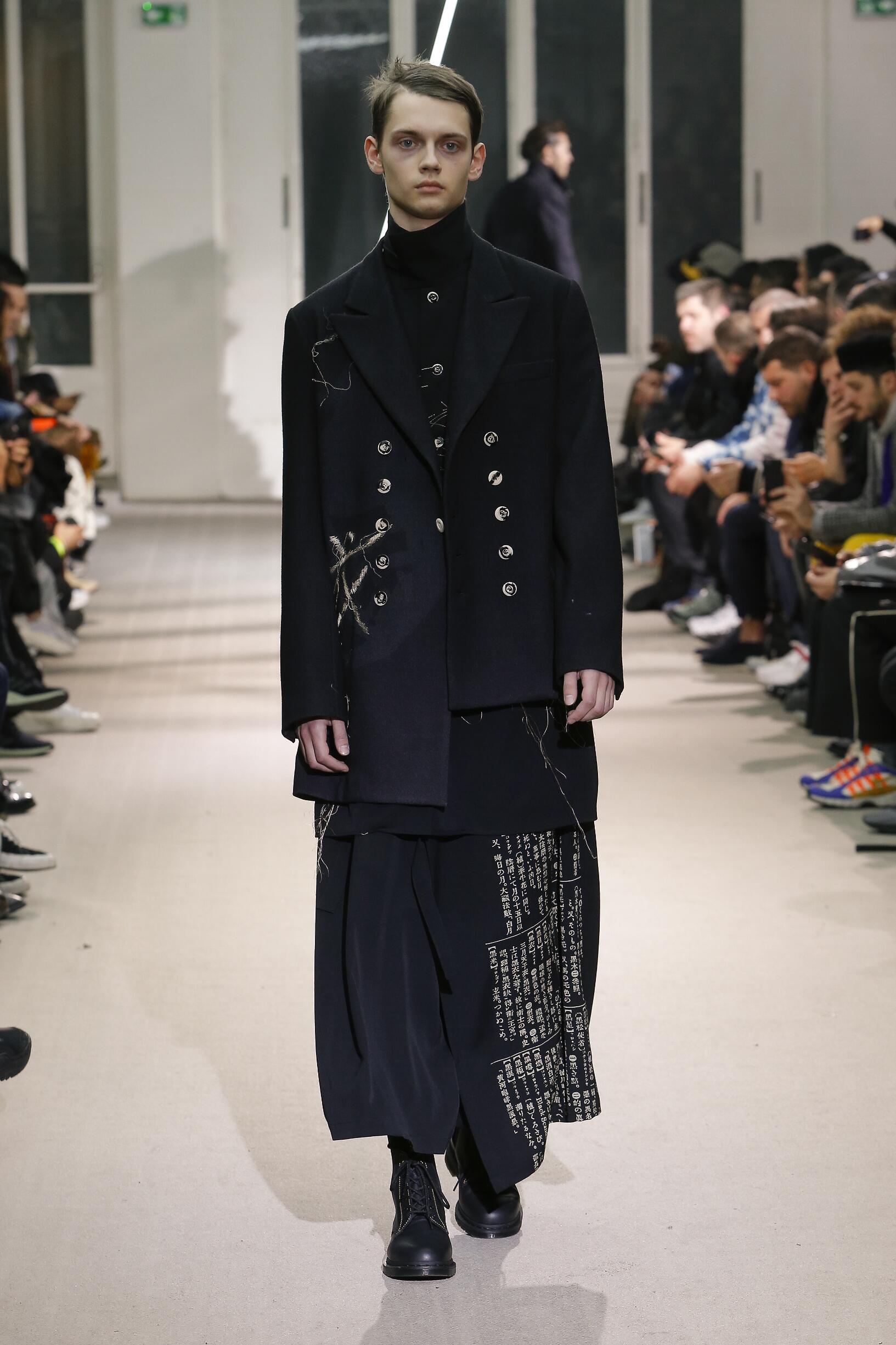 Winter 2019 Man Trends Yohji Yamamoto